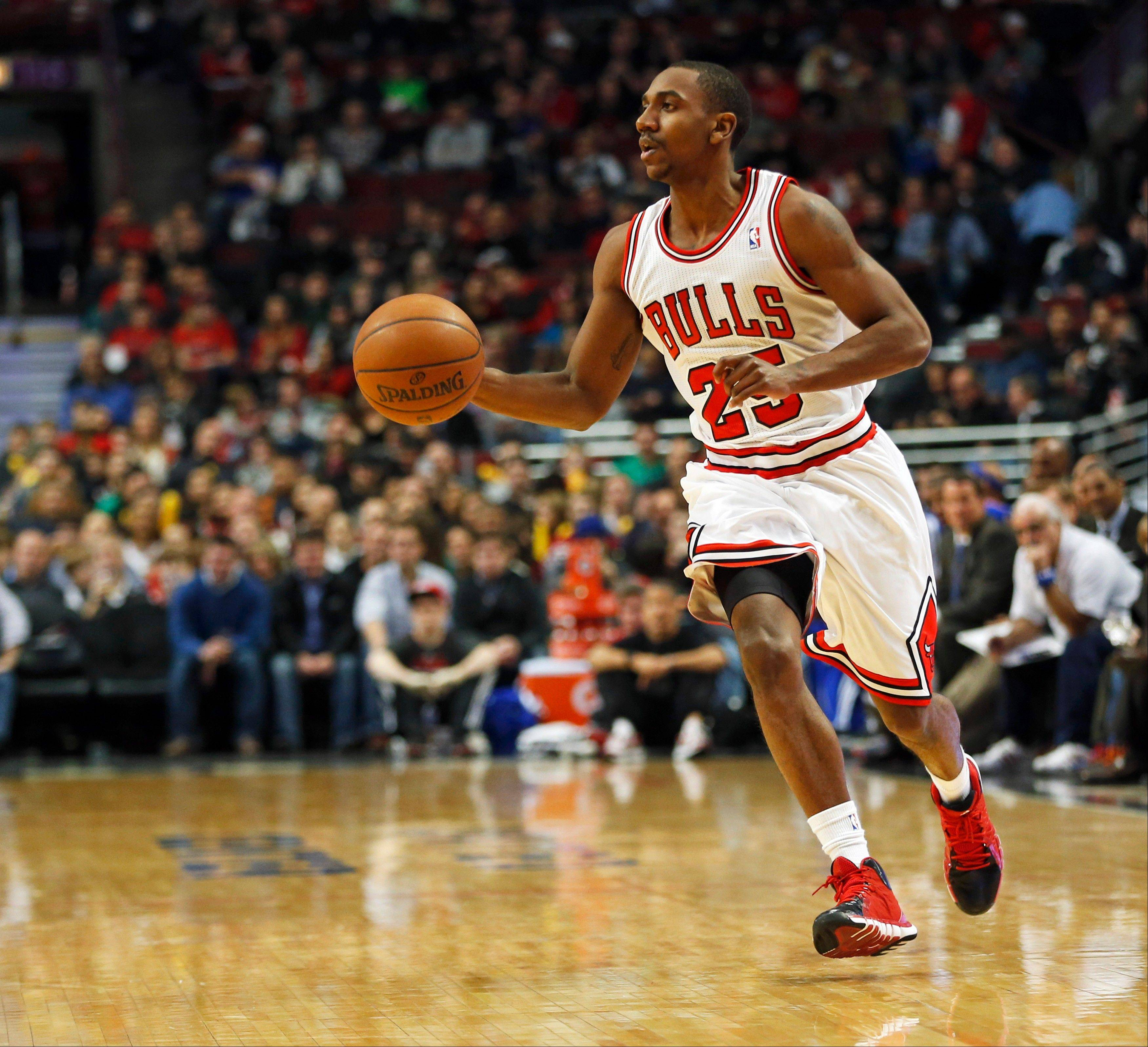 The Bulls have sent guard Marquis Teague to the NBA's D-League to get more playing time while Kirk Hinrich and D.J. Augustin hold down the point-guard position.