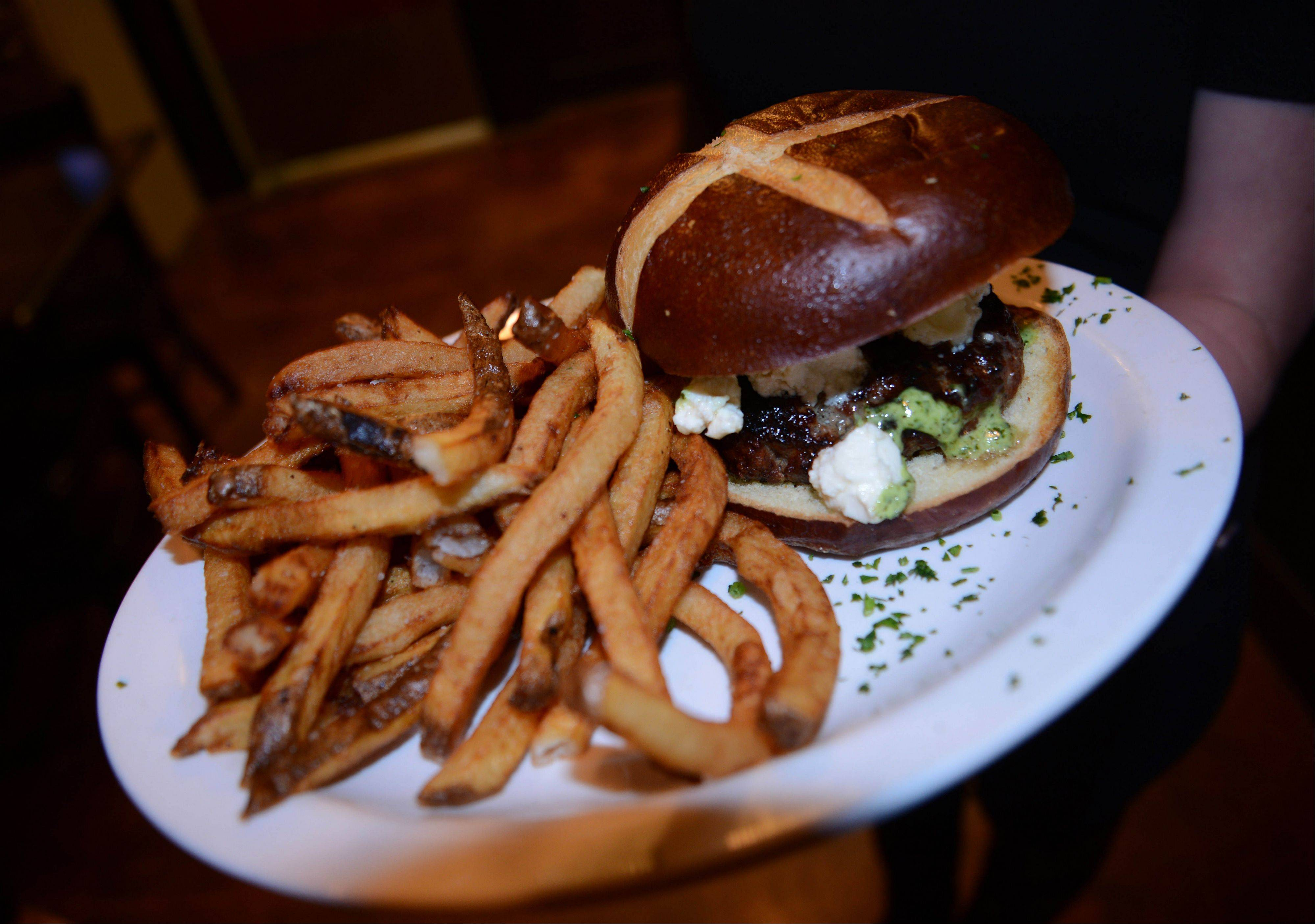 Jackson Avenue Pub offers an impressive lineup of craft beers and burgers in downtown Naperville.