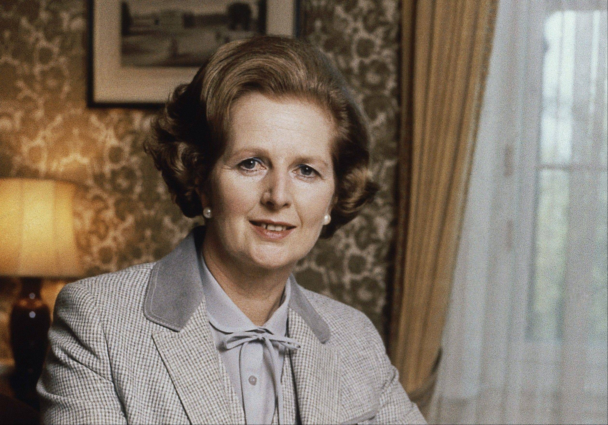 This 1980 file photo shows British Prime Minister Margaret Thatcher in London. Thatcher died of a stroke Monday morning, April 8, 2013. She was 87.