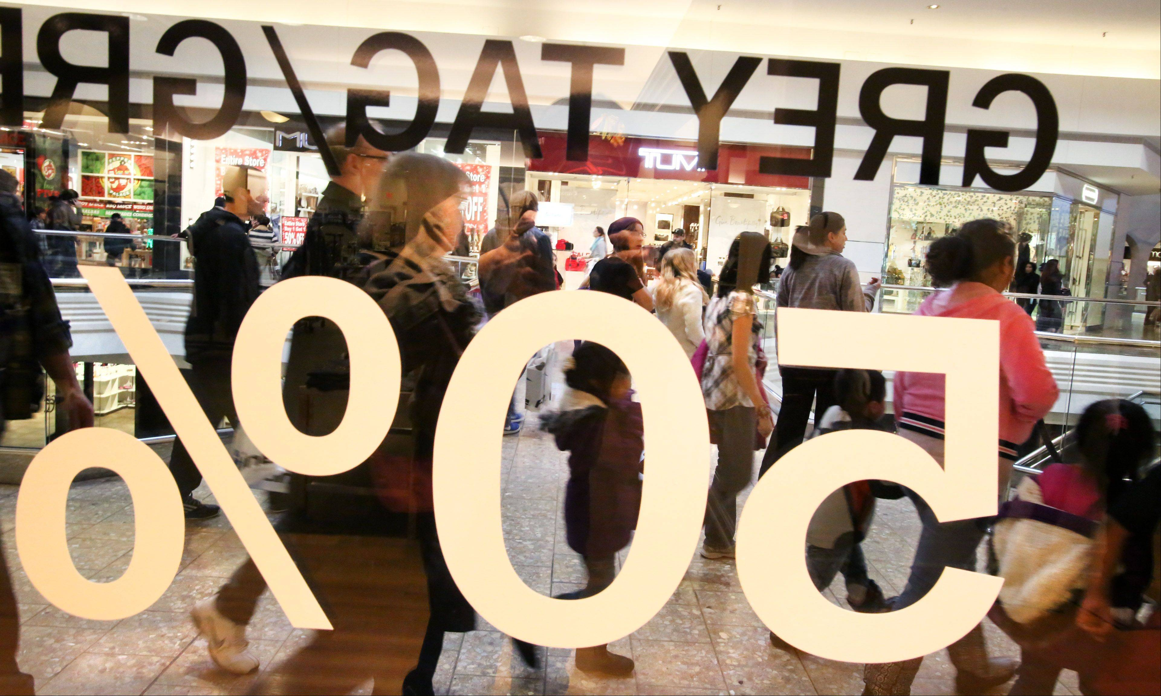After-Christmas sales drew suburban shoppers to Woodfield Mall Friday.