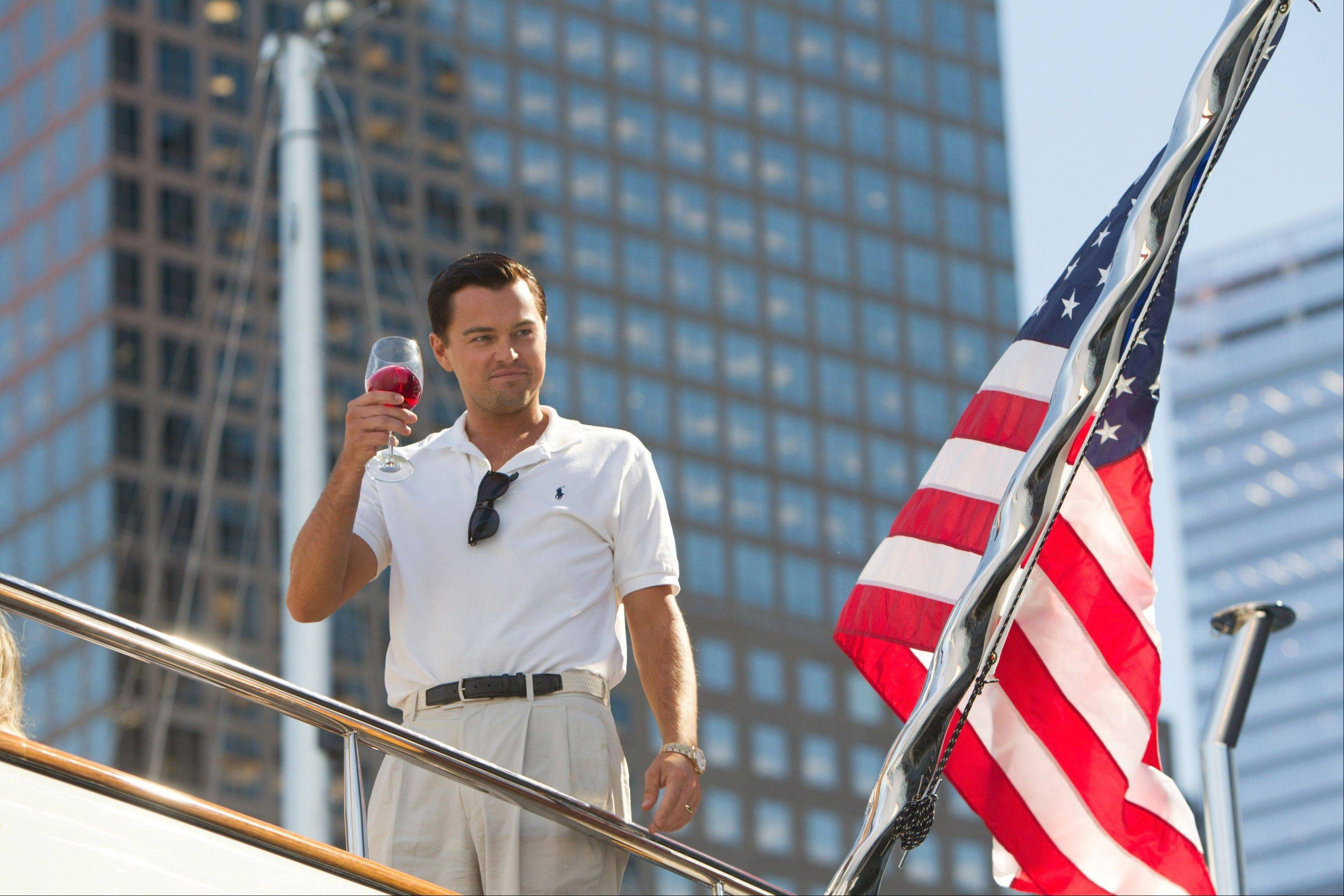 "Leonardo DiCaprio stars in Martin Scorsese's sensational ""The Wolf of Wall Street."""