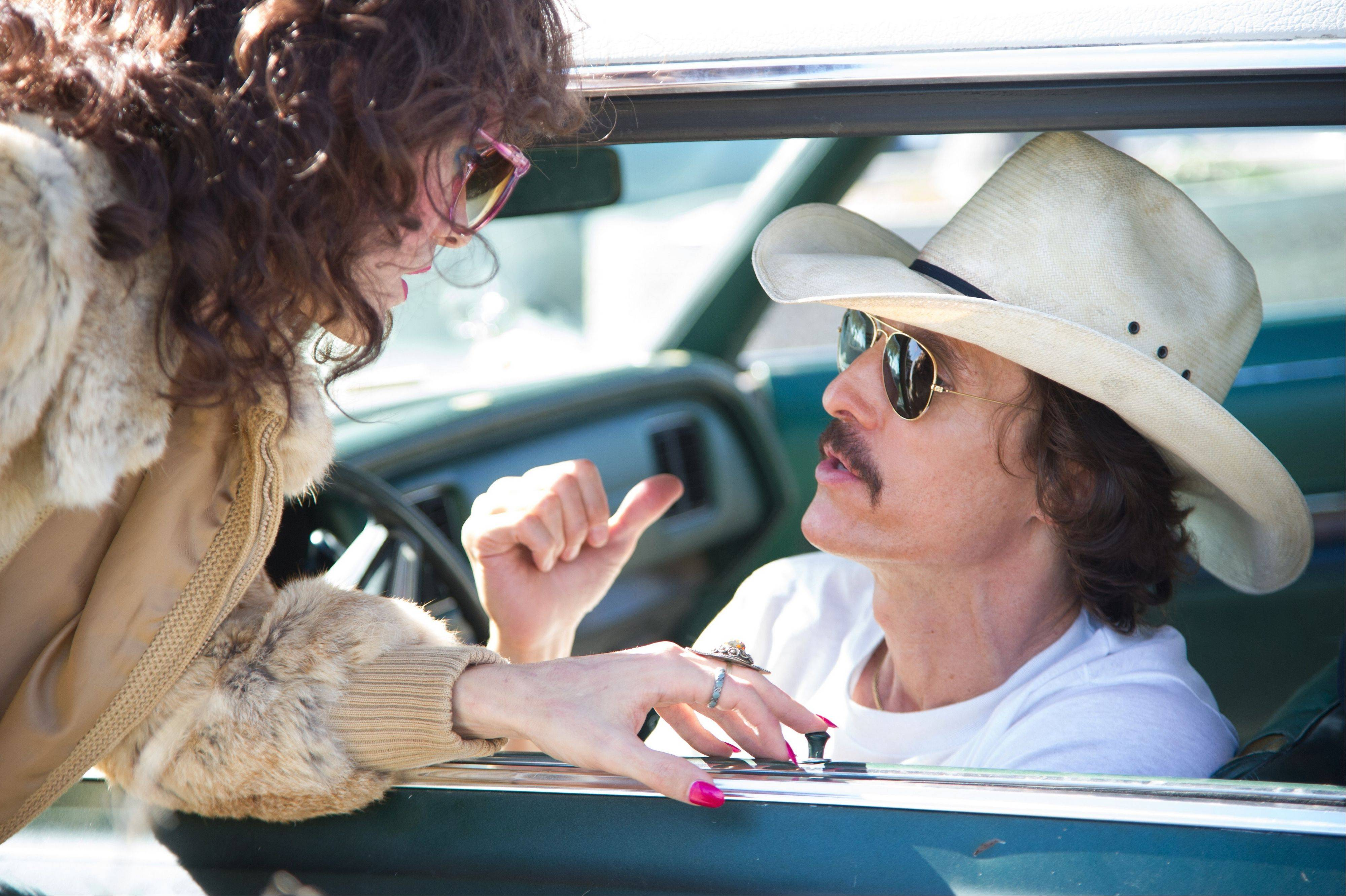 "Matthew McConaughey stars as a rodeo-loving homophobe whose AIDS diagnosis changed his life in the fact-based ""Dallas Buyers Club."""