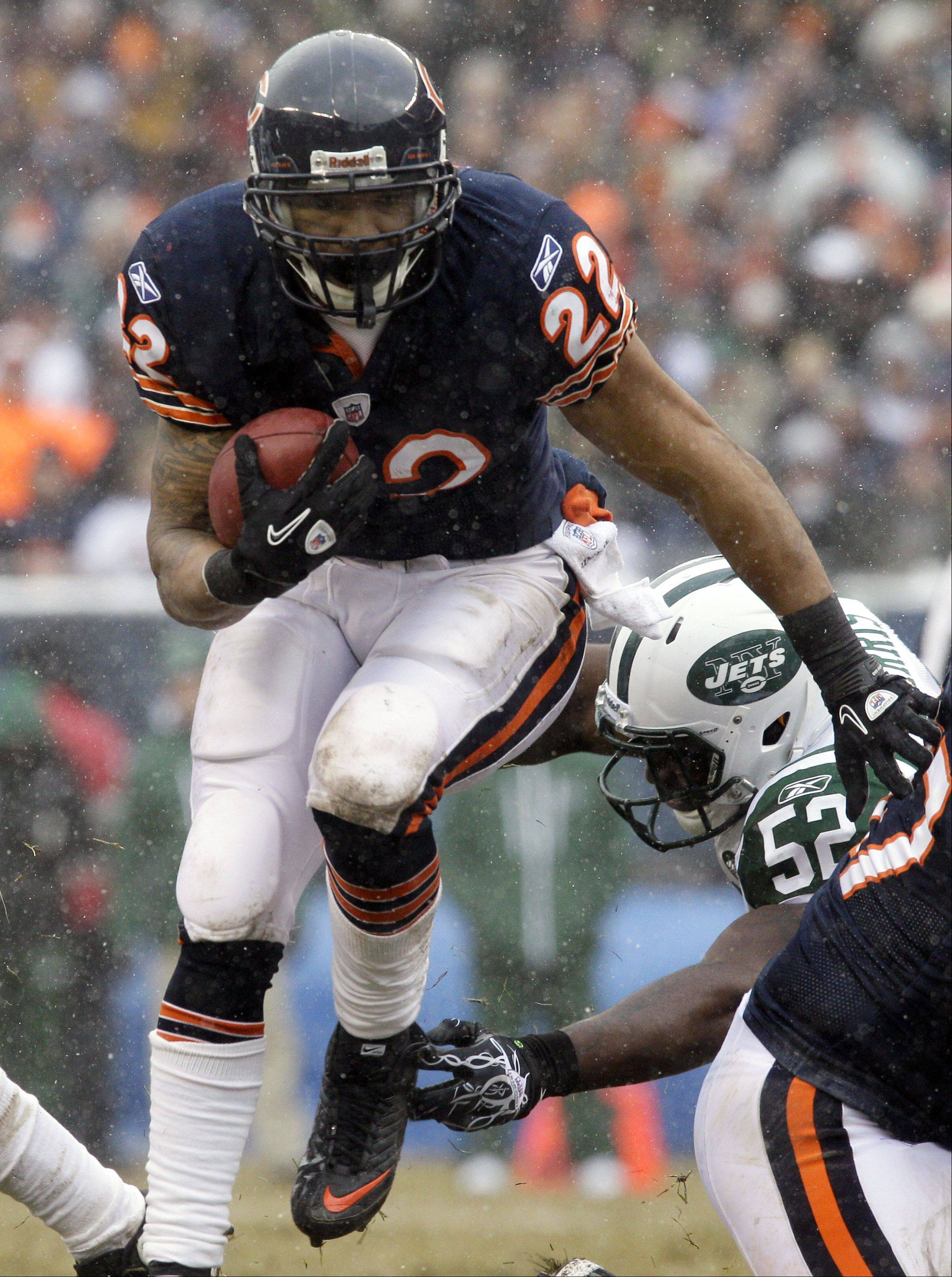 Bears running back Matt Forte is third in the league with 1,776 yards from scrimmage, including 1,229 rushing and 547 receiving. His 70 receptions are a career best, and he needs 10 rushing yards against the Packers on Sunday to eclipse his personal best of 1,238, which was set in his rookie season in 2008.