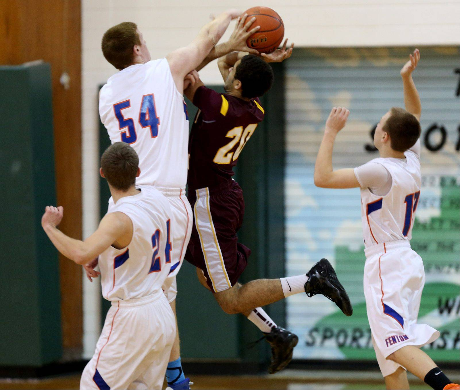 Images from the Fenton vs. Montini boys basketball game on Friday, Dec. 27, 2013.