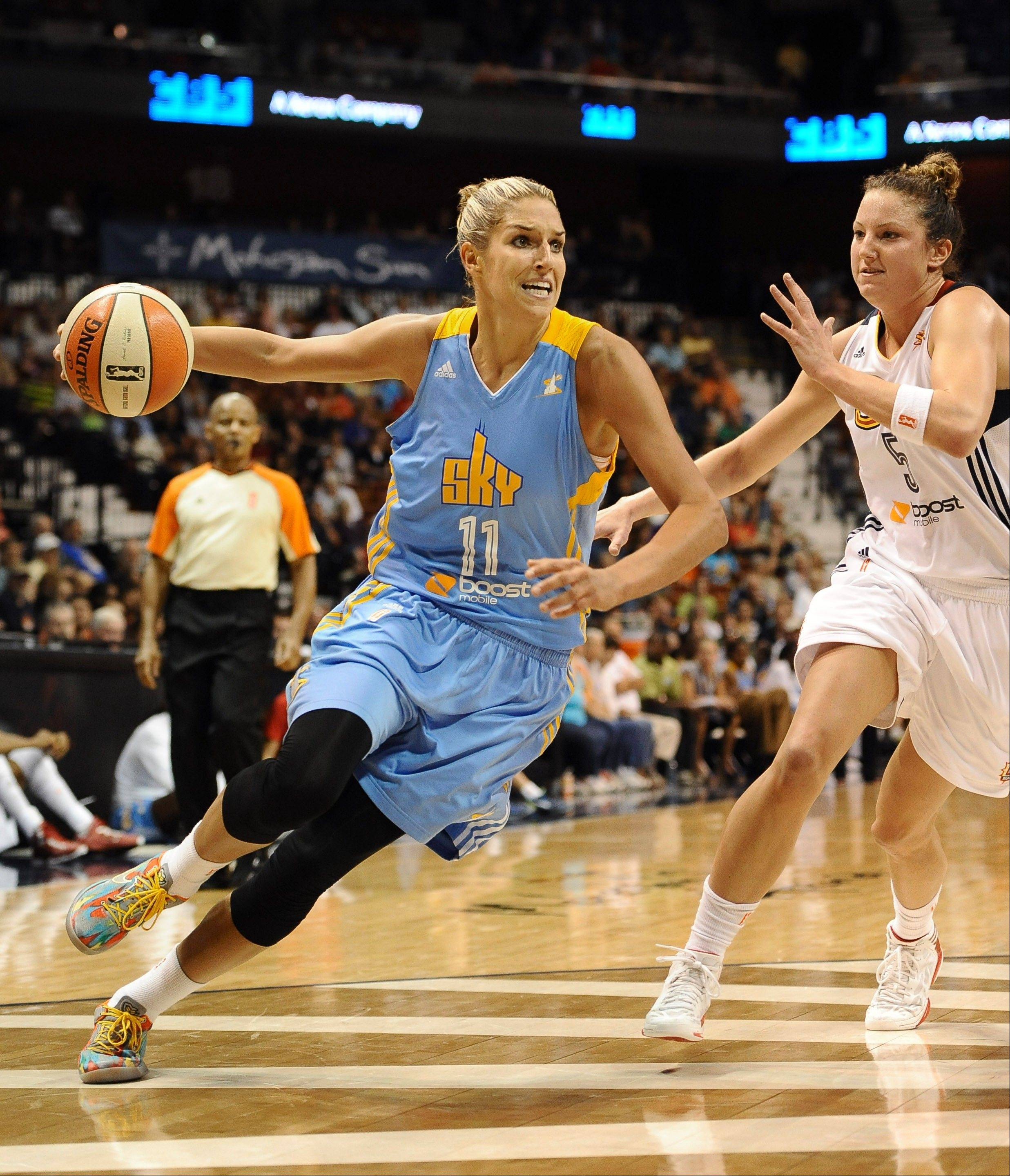 The emergence of Elena Delle Donne (11) changed the fortunes of the Chicago Sky, which made the WNBA playoffs for the first time and posted the franchise's first winning season.