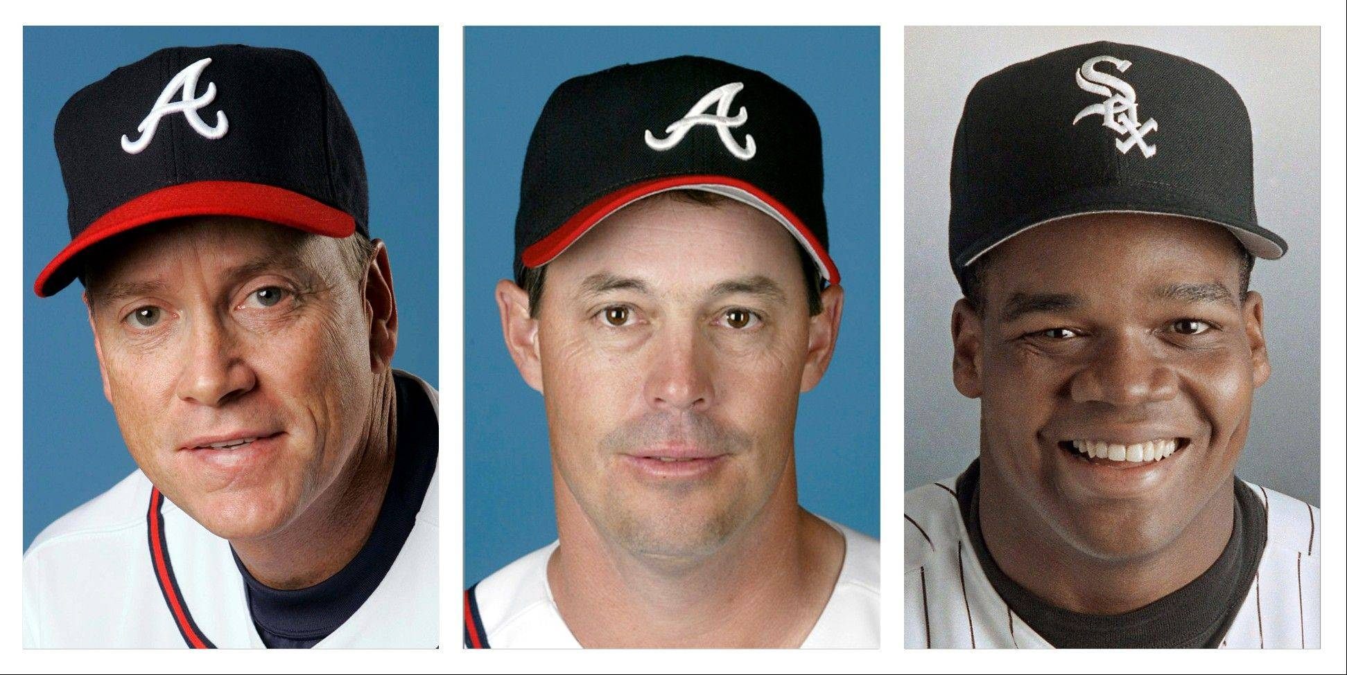 Tom Glavine, Greg Maddux and Frank Thomas appeared on the Baseball Hall of Fame ballot for the first time this winter. They received votes from all four of Daily Herald's electors.
