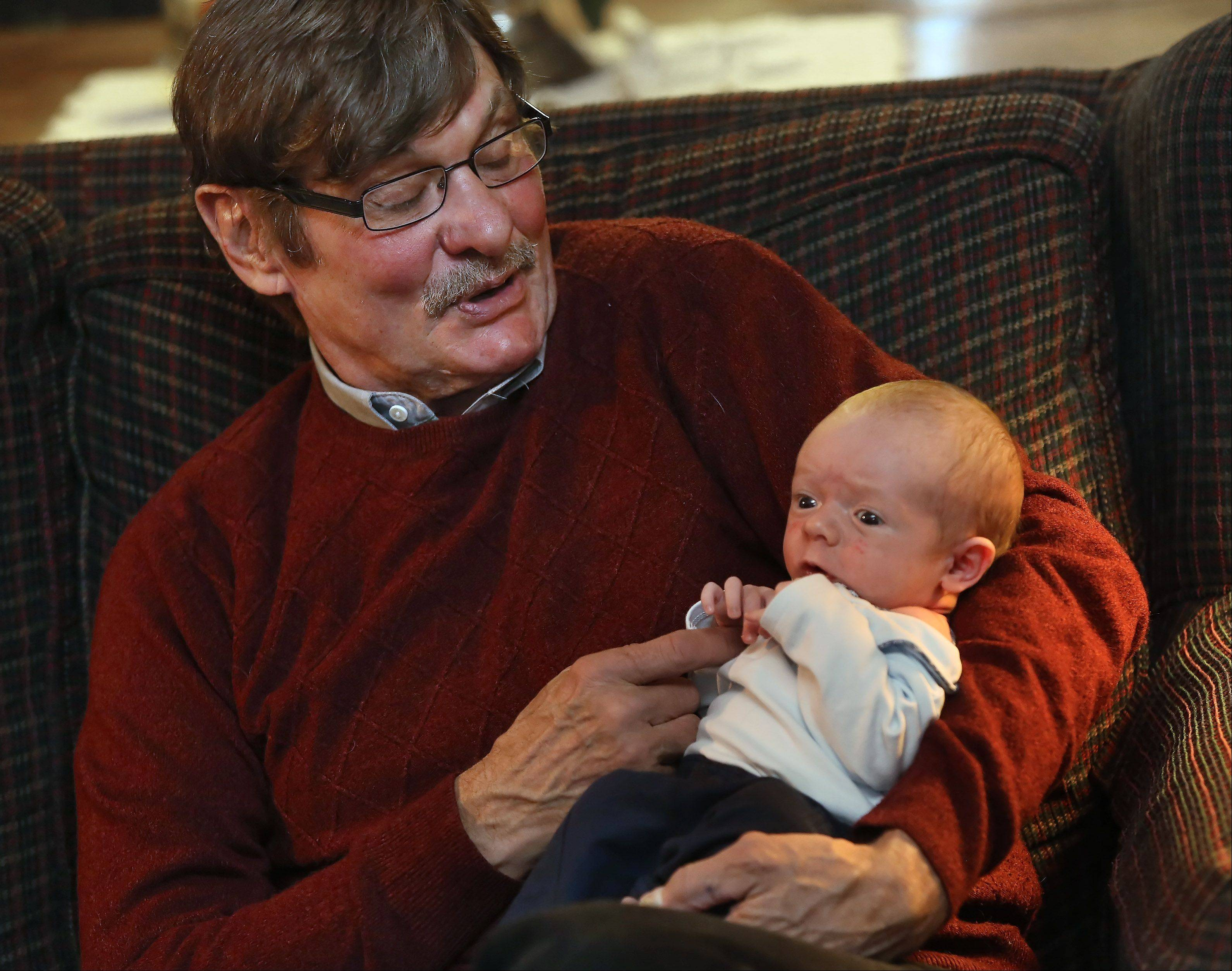 Former Wauconda Mayor Mark Knigge has been spending time with his 3-week-old grandson, Conner.