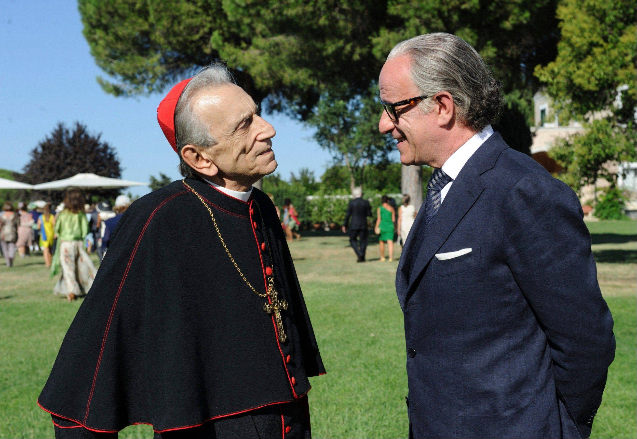 "This undated file picture made available by the press office Punto e Virgola shows Italian actor Toni Servillo, as Jep Gambardella, right, and actor Roberto Herlitzka, as Cardinal Bellucci, in a scene from Italian director Paolo Sorrentino's ""La grande bellezza"" (The Great Beauty)."