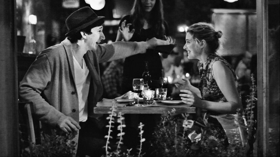 "This undated file publicity photo released by the Independent Film Channel shows Greta Gerwig, right, and Adam Driver in a scene from the film, ""Frances Ha."""