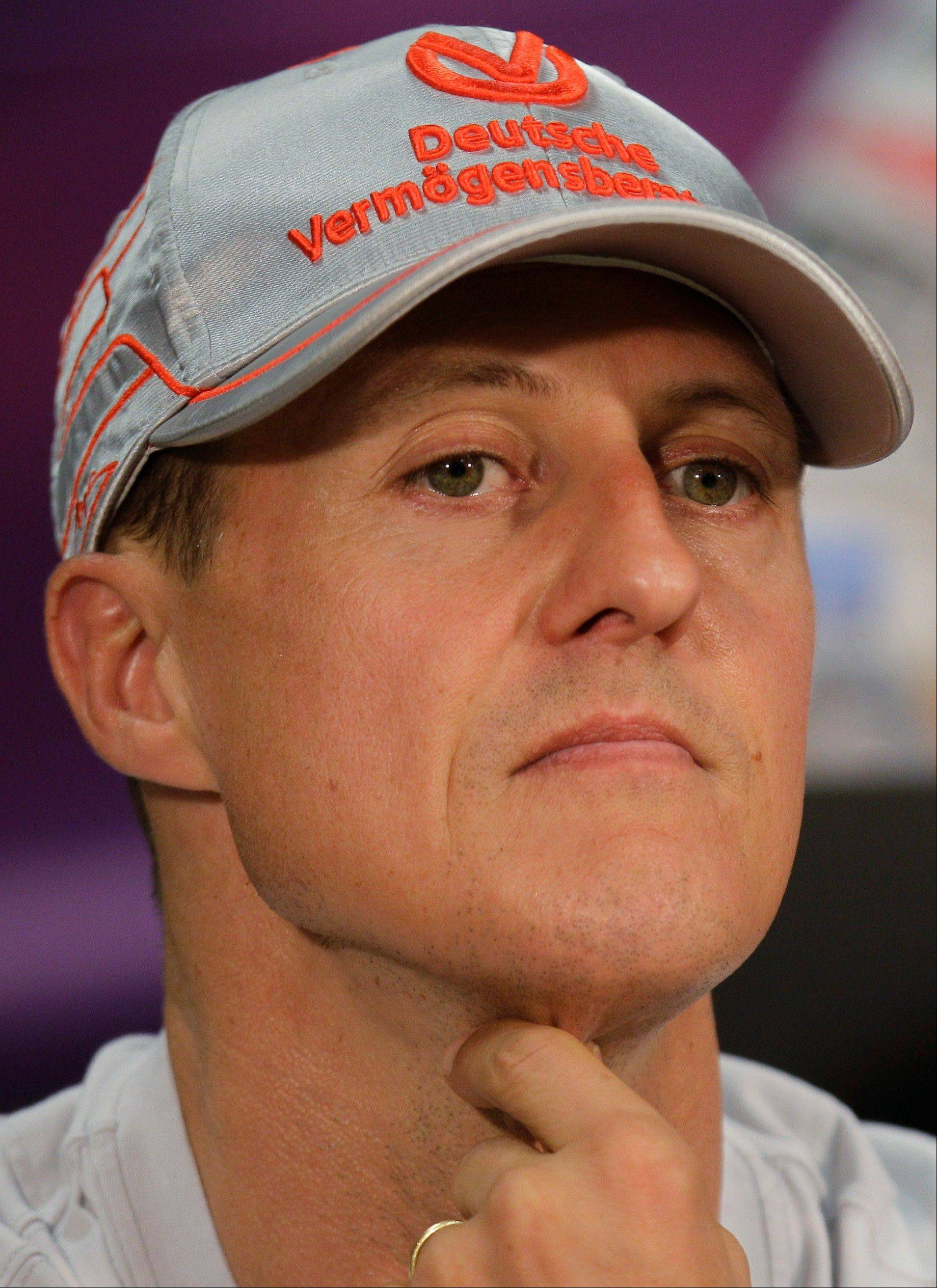 Michael Schumacher fell and struck a rock Sunday while skiing during a family vacation. He�s been placed in a medically induced coma.