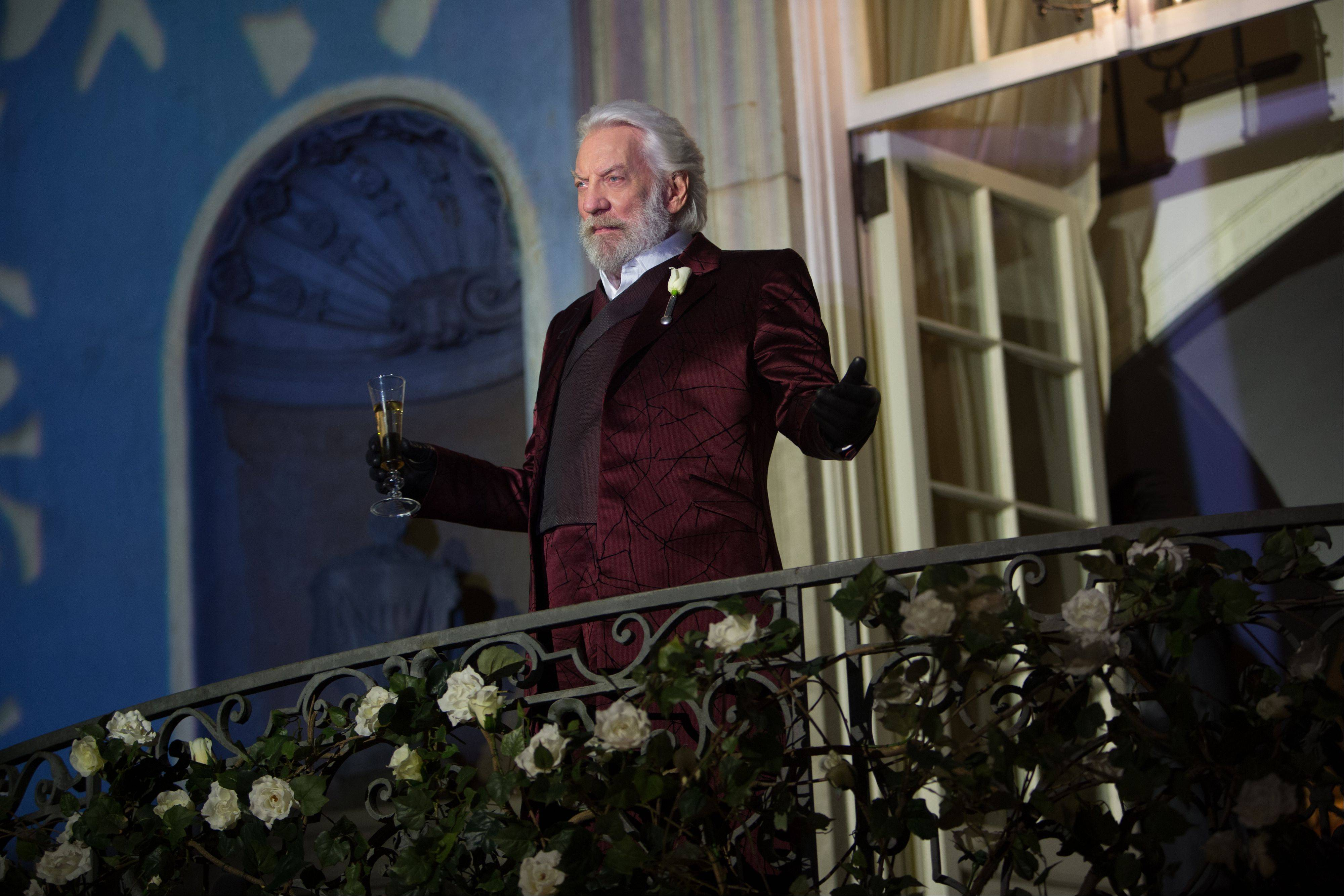 "Donald Sutherland as President Snow in ""The Hunger Games: Catching Fire."" Hollywood is expected to have a banner year as box office totals are projected to peak at just under $11 billion, bringing in more multiplex revenue in 2013 than ever before."