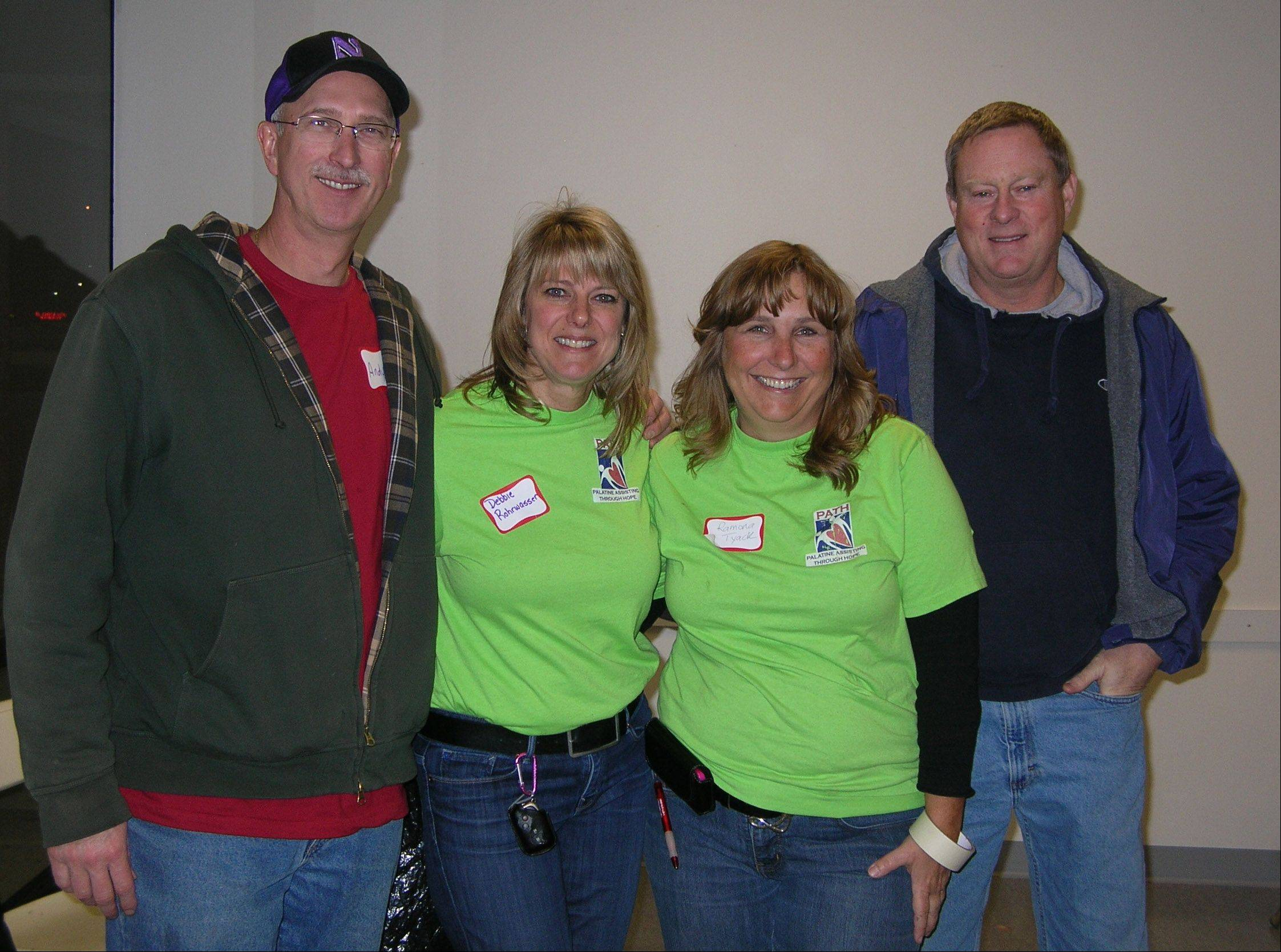From left, Andy Konopka, Debbie Rohrwasser, Ramona and Rich Tyack founded Palatine Assisting Through Hope, a grass-roots organization that helps families in need find everything from winter clothing to job counseling. The group has grown rapidly since its creation in 2006.