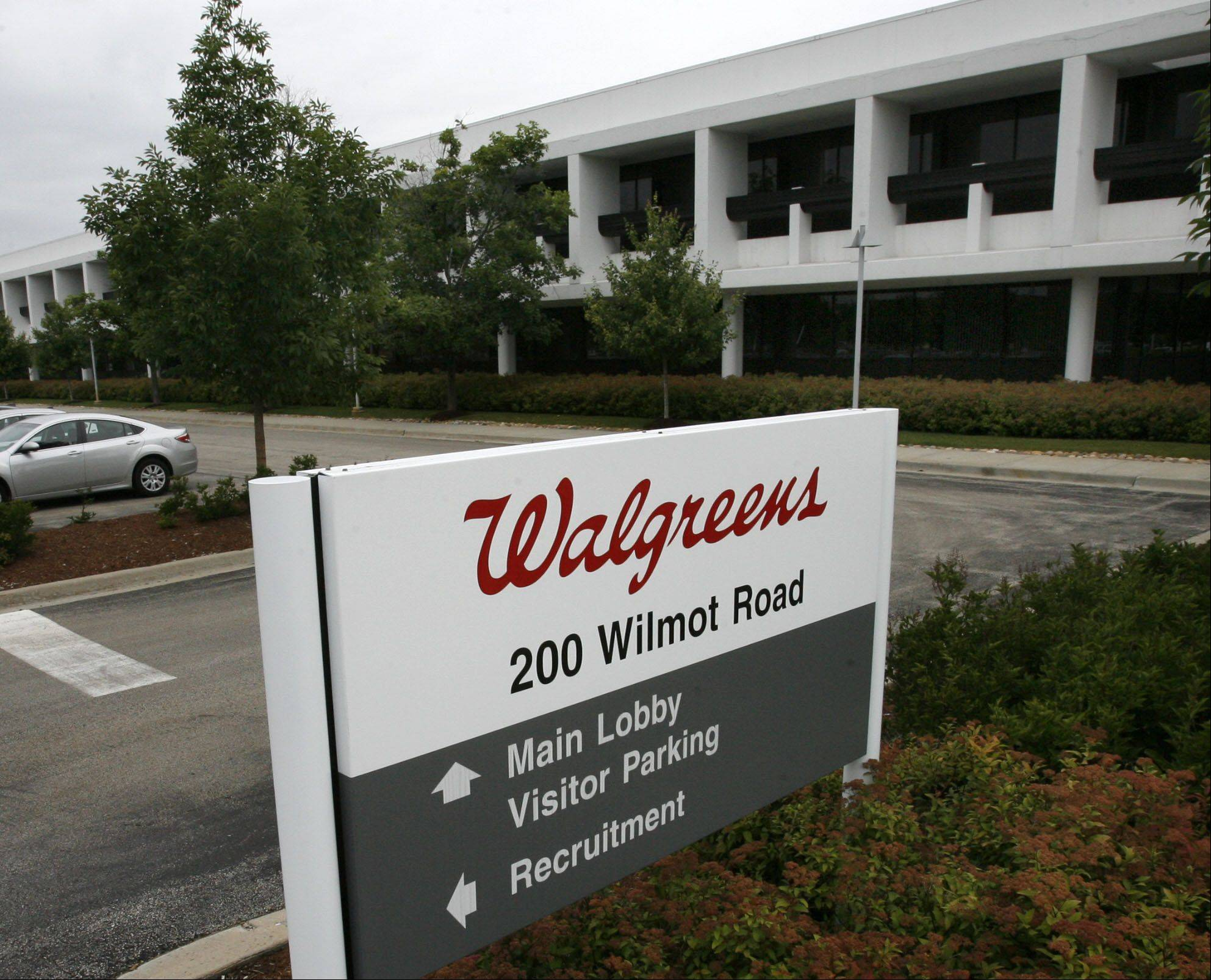 GEORGE LECLAIRE/gleclaire@dailyherald.com � Walgreens Corporate Campus Headquarters sign in Deerfield.