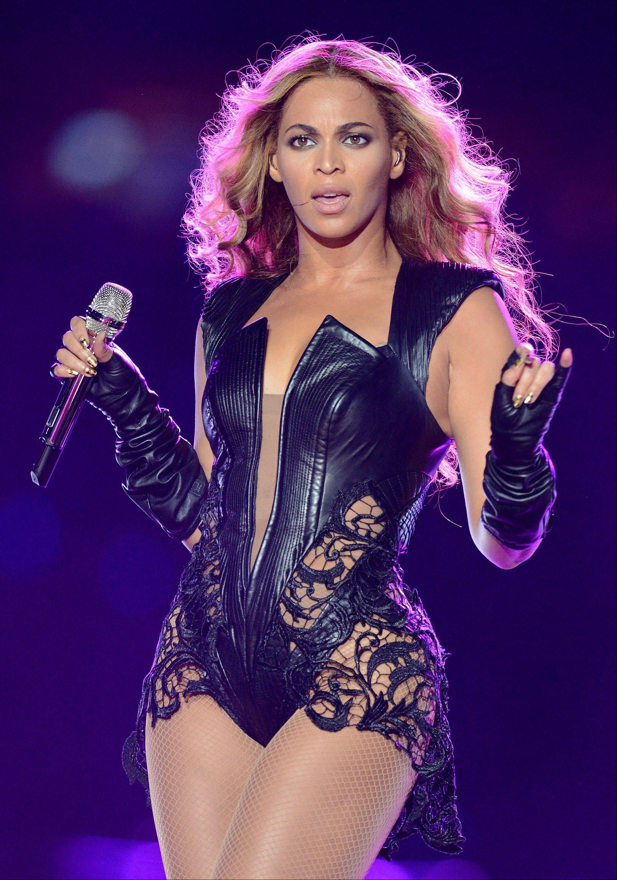 In this Feb. 3, 2013 file photo, recording artist Beyonce performs at Super Bowl XLVII, in New Orleans. Beyonce stopped short of apologizing for using a sample of audio from the Space Shuttle Challenger explosion in a statement released on Tuesday to ABC. The pop superstar explained the use of the short snippet at the beginning of her song �XO� from her new self-titled album after it brought criticism from the wife of the commander at the helm of the Challenger when it exploded in 1986 and others.