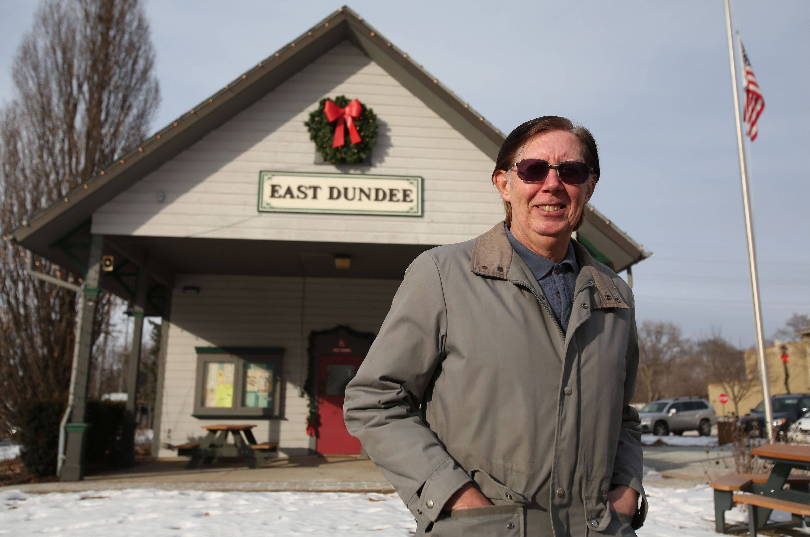 Bill Zelsdorf, of Carpentersville, recently received East Dundee�s inaugural community service award for his work at the Dundee Township Visitor�s Center, also known as The Depot, in East Dundee. Zelsdorf has been affiliated with The Depot for 17 years as a board member, manager and contest coordinator.