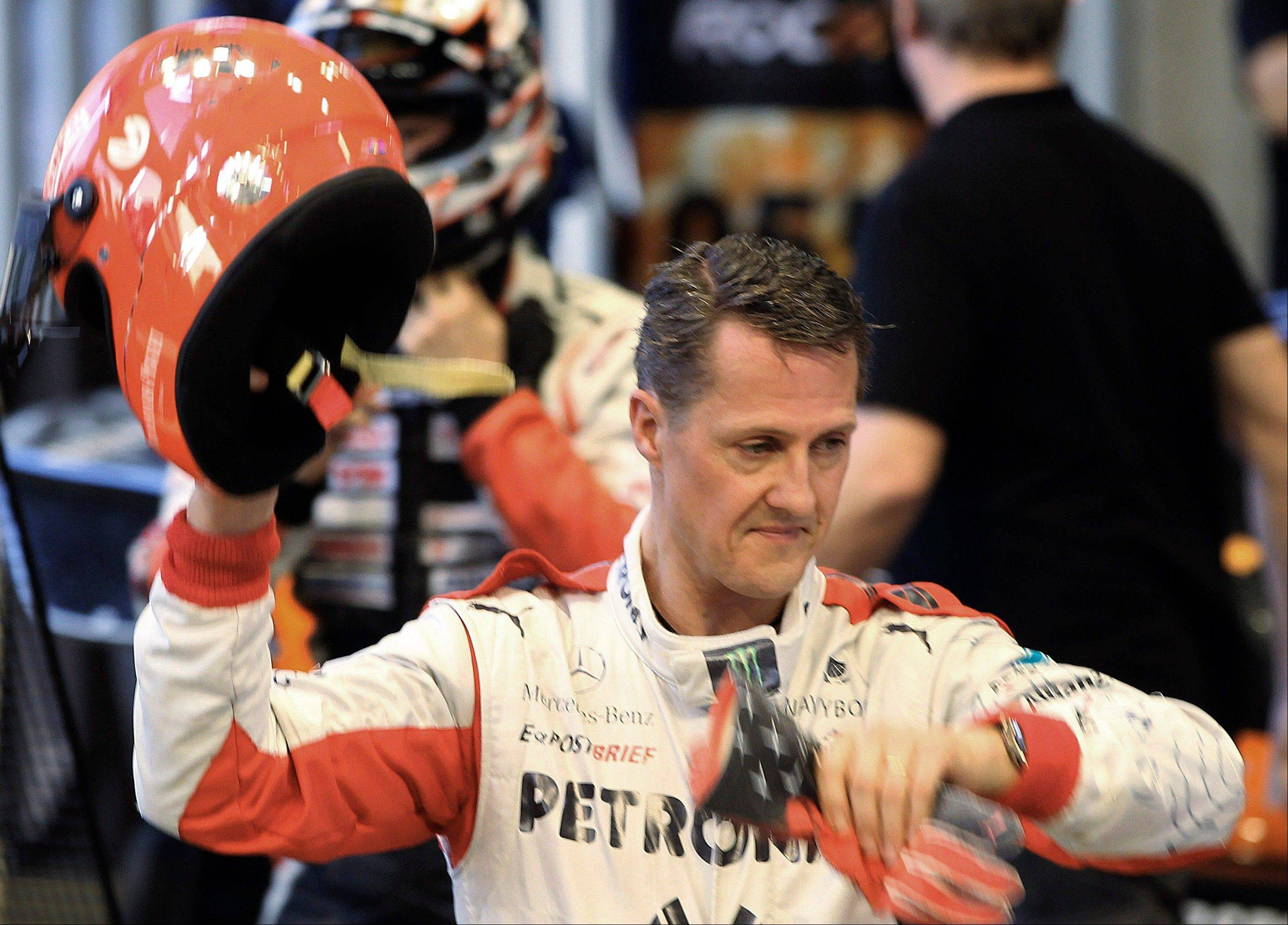 Formula One champion Michael Schumacher remains in a medically induced coma after a skiing accident on Sunday in the French Alps.