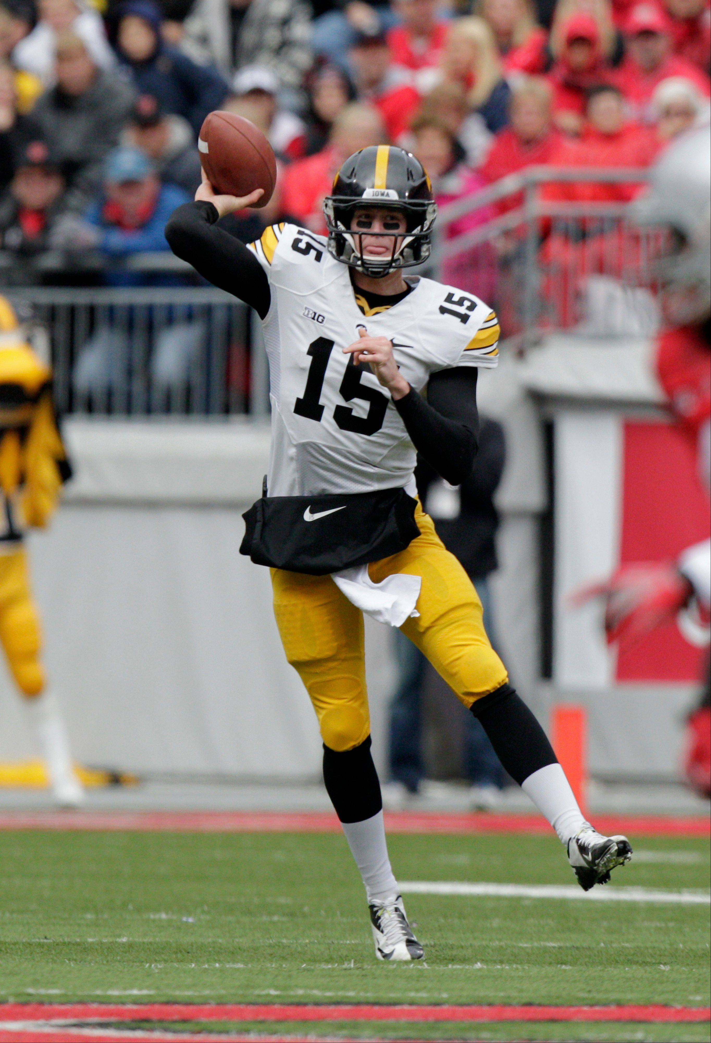 Iowa quarterback Jake Rudock threw for 2,281 yards and 18 TDs in his first year as the Hawkeyes' starter.