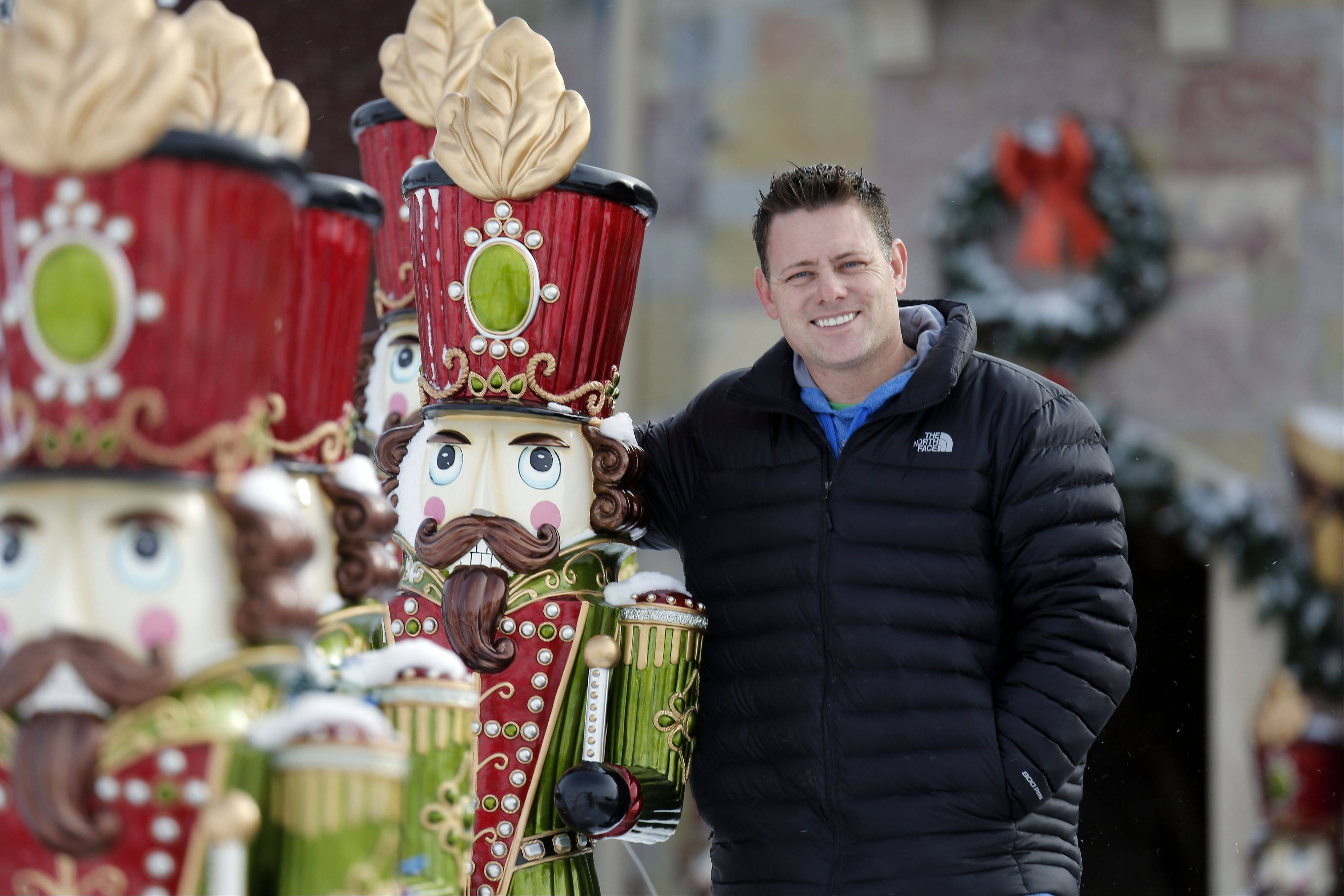 Brian Larsen of Elburn who recently won a reality show for his Christmas lights display was originally planning on taking down his lights this week. Instead, he's decided to extend the light show through this Sunday.