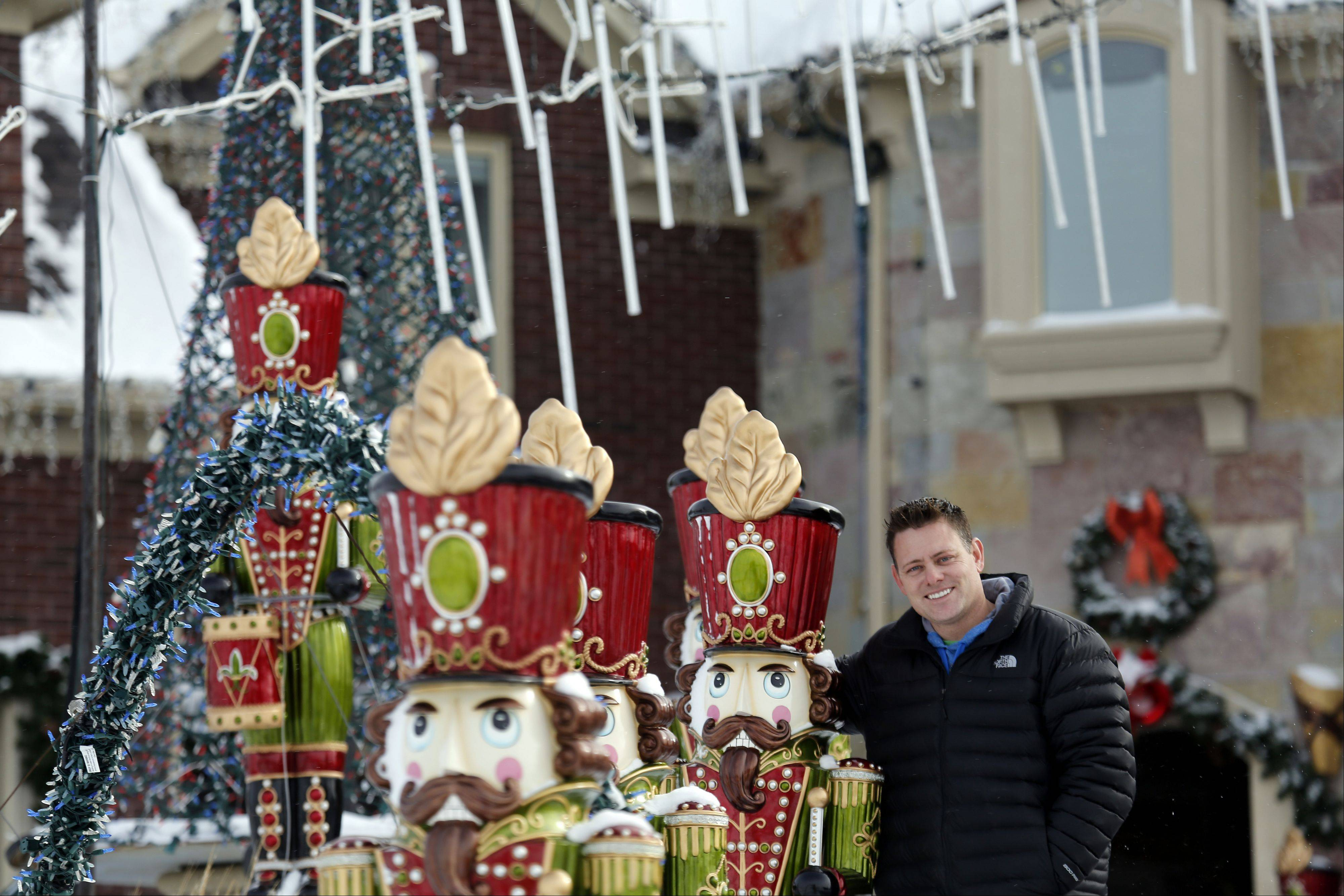 "Brian Larsen of Elburn recently won ""The Great Christmas Light Fight"" on ABC. He decided to extend the light show through this Sunday. In previous years, he would turn the lights off Jan. 2."