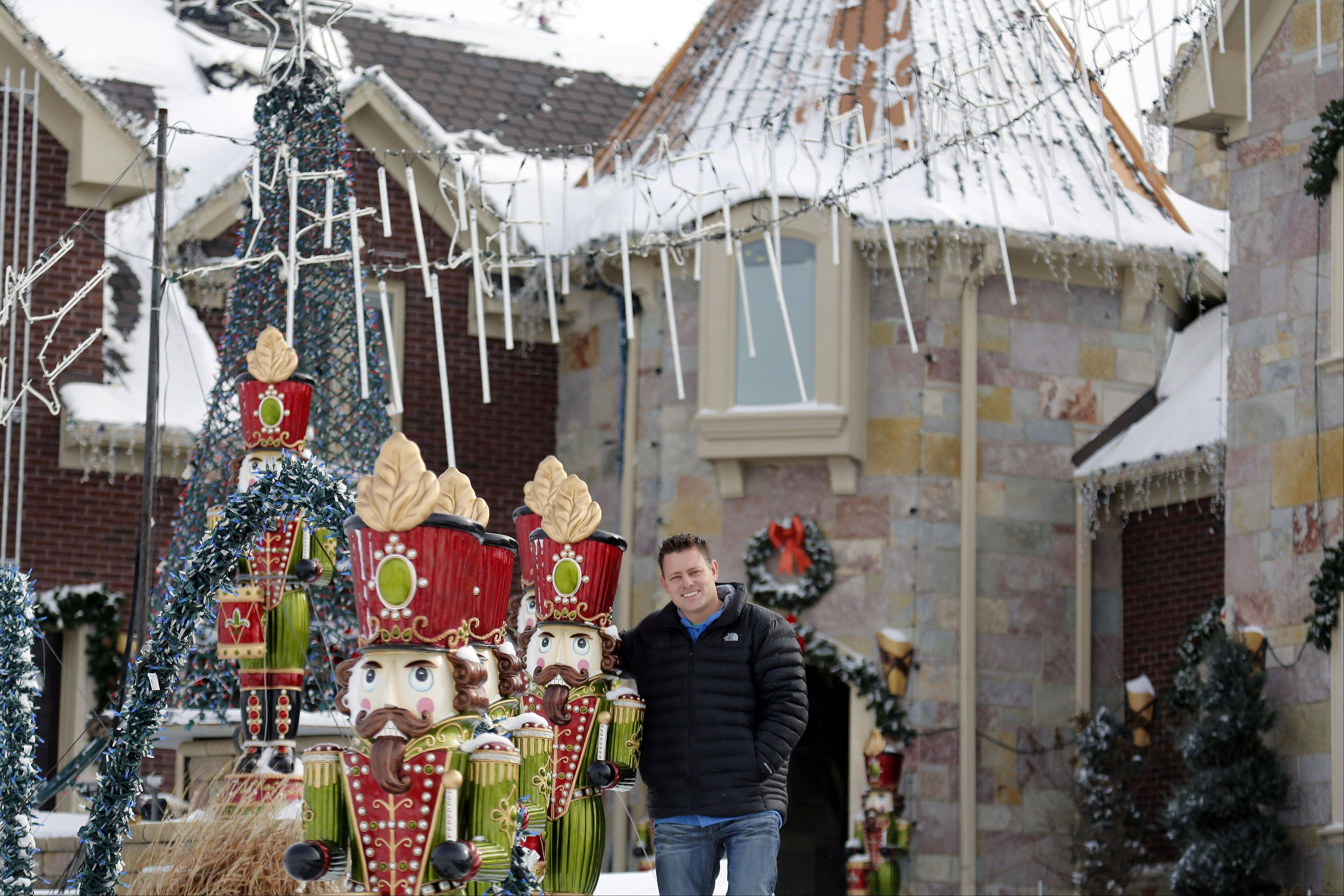 "Brian Larsen of Elburn recently won $50,000 on ""The Great Christmas Light Fight"" on ABC. He usually turns off his display on Jan. 2 but decided to keep it lit through Sunday."