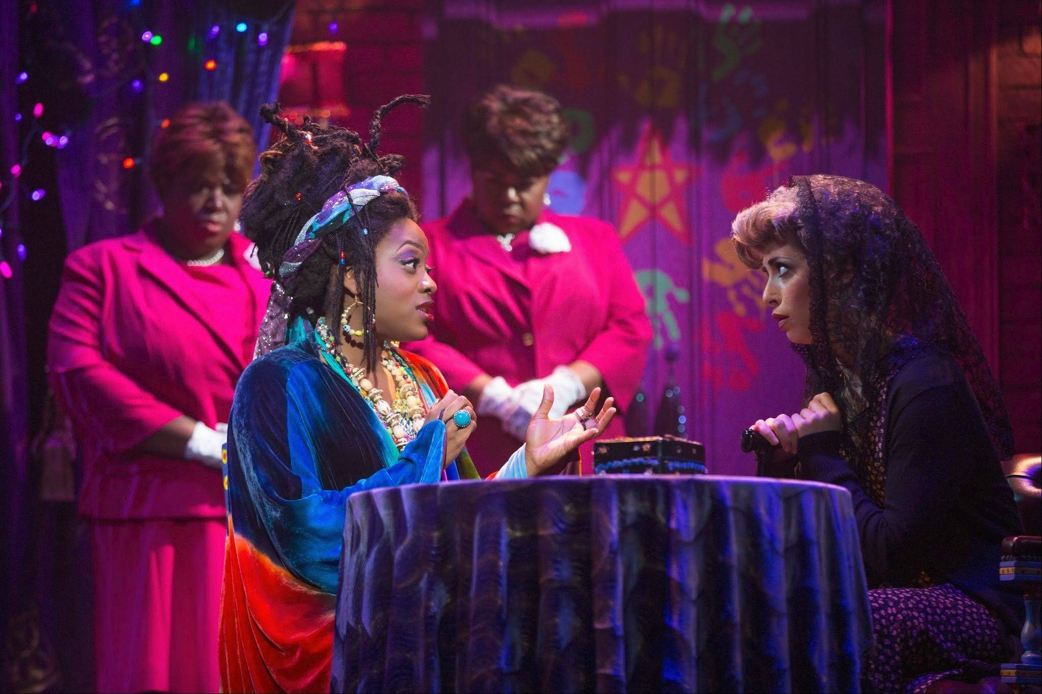 "The medium Oda Mae Brown (Carla R. Stewart) plies her trade in the national tour of ""Ghost The Musical,"" adapted from the hit 1990 film."