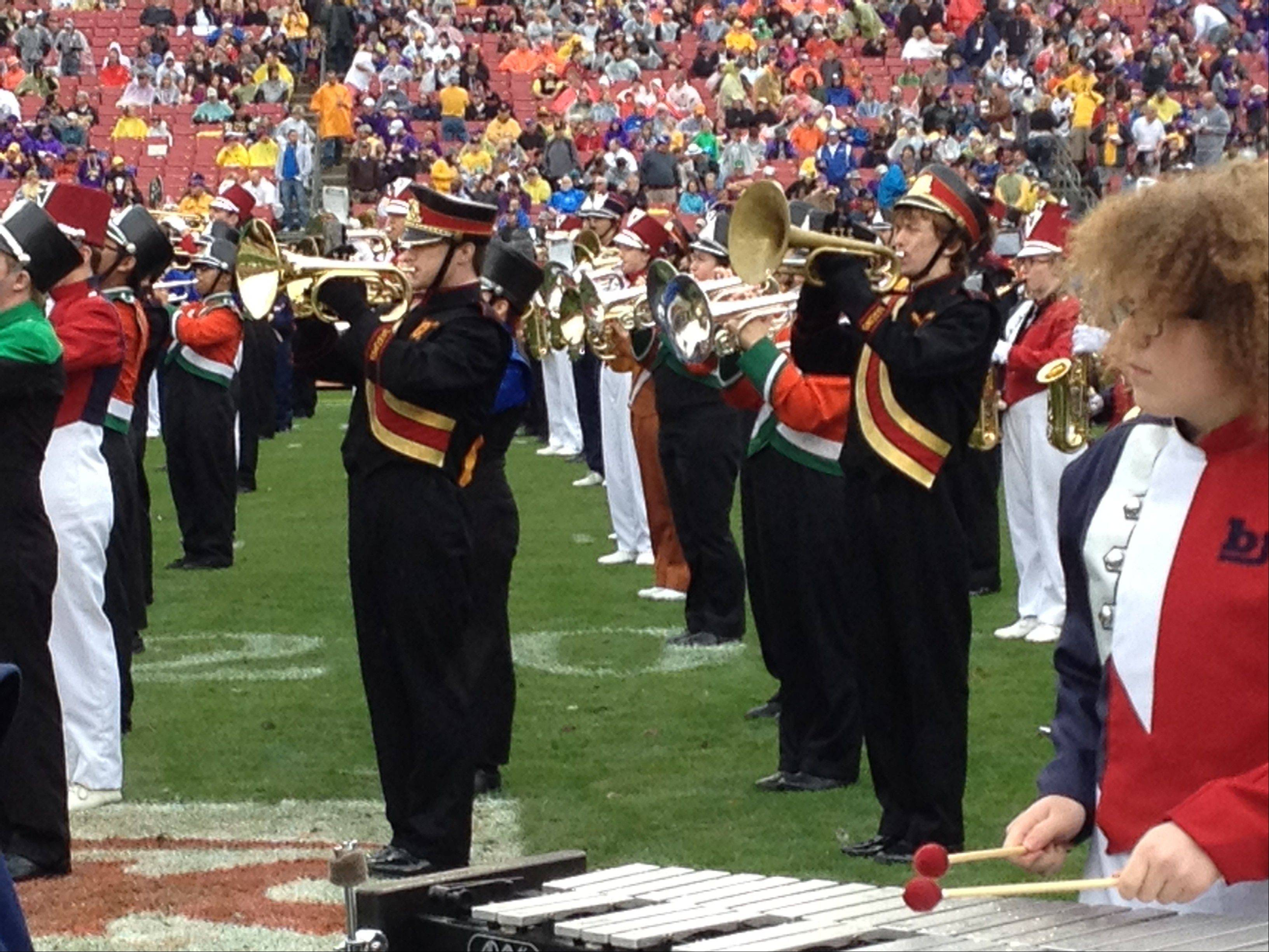 The Schaumburg High School marching band recently returned from performing in Florida.