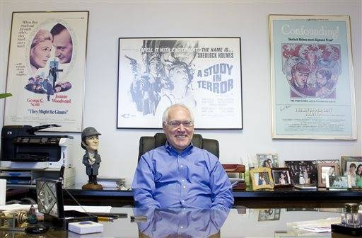 Leslie Klinger at his Los Angeles office.