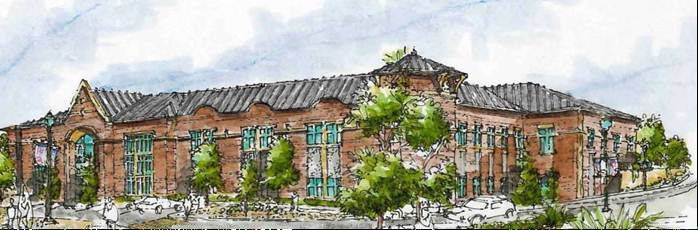 Artist's rendering of the new Mundelein village hall.