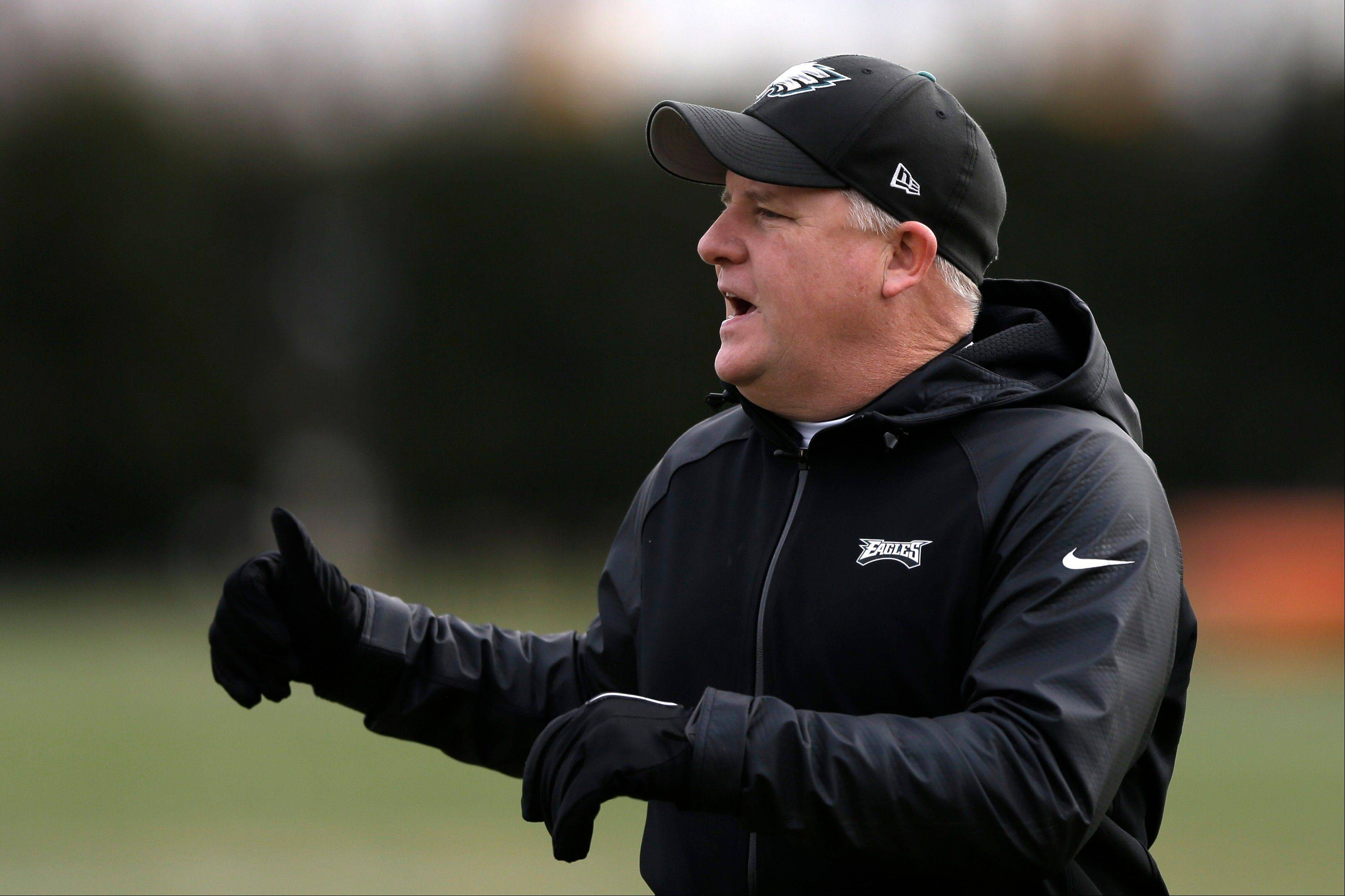 Philadelphia Eagles head coach Chip Kelly will lead his team against the New Orleans Saints in a wild-card playoff game on Saturday.