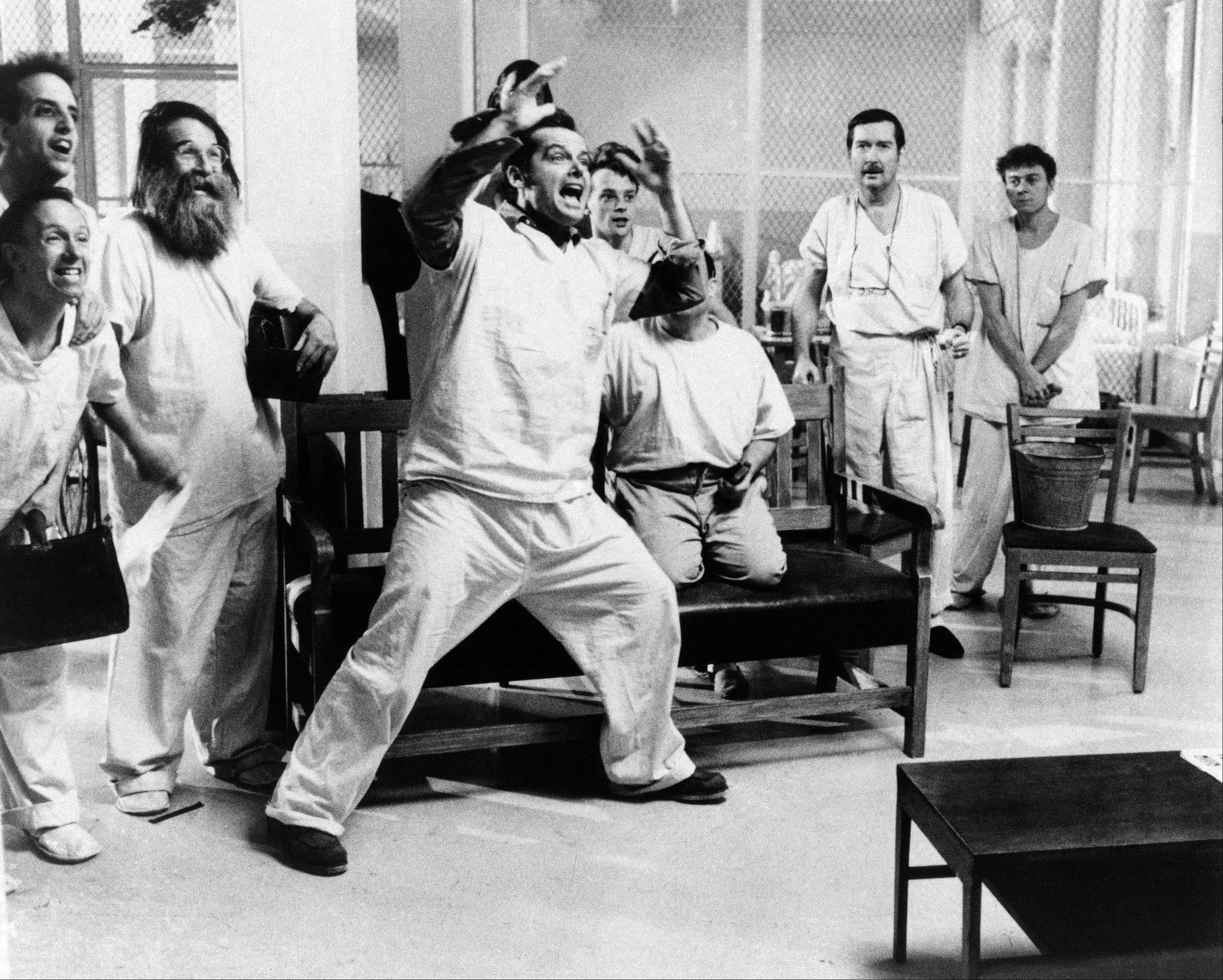 In this 1975 file photo originally released by United Artists, shows a scene from the movie �One Flew Over the Cuckoo�s Nest,� which was produced by Saul Zaentz. Zaentz, 92, died Friday in San Francisco.