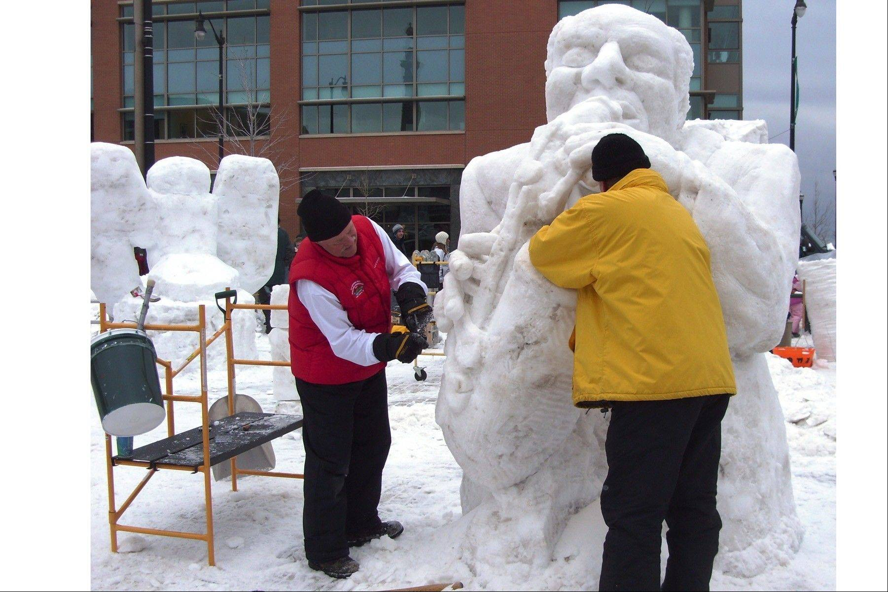 The Wisconsin State Snow Sculpting Competition starts Friday, Jan. 10, at Monument Square in downtown Racine, Wis. It's part of The Big Chill Ice and Snow Festival, which offers a menu of family activities.