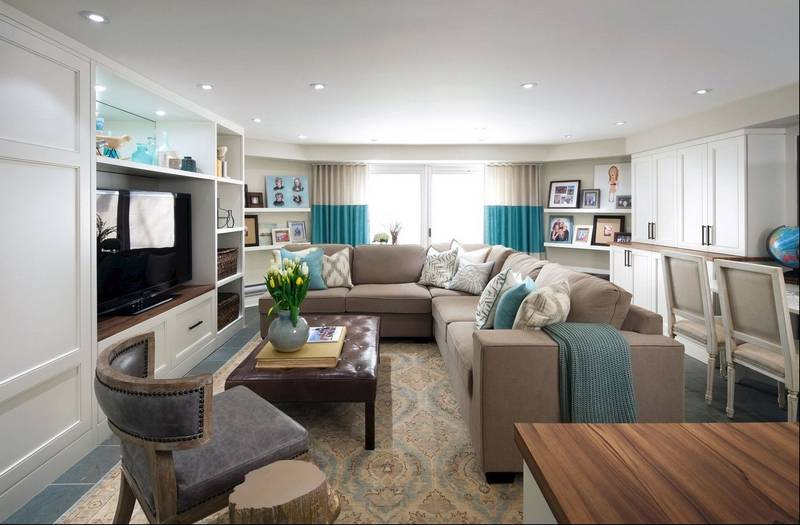 New storage and seating areas highlight the bright ...