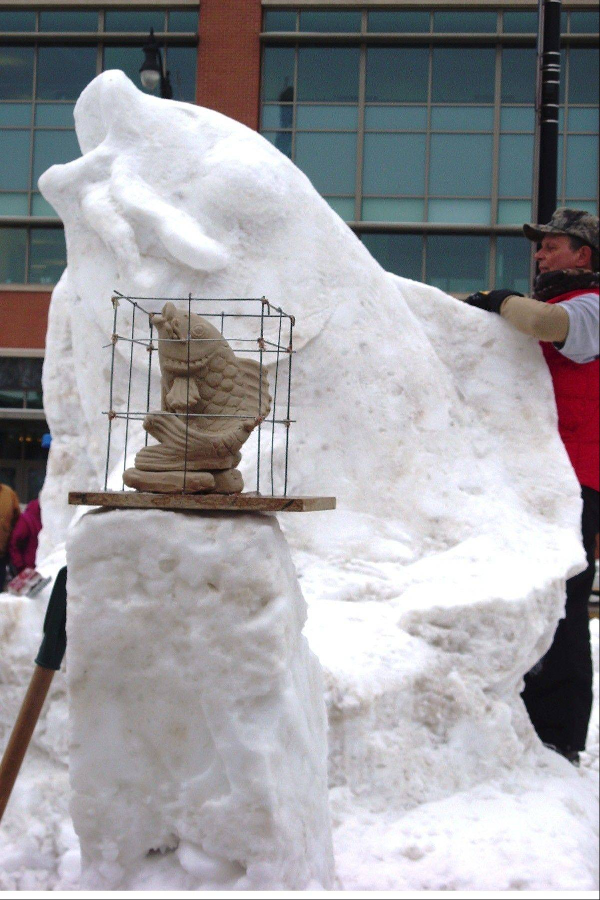 Admission is free for the Wisconsin State Snow Sculpting Competition Friday through Sunday, Jan. 10-12, at Monument Square in downtown Racine, Wis.