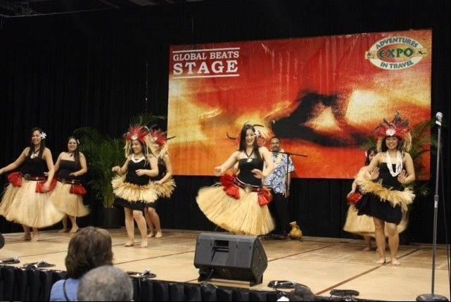 Enjoy more than 20 performances of international music and dance during the Travel & Adventure Show, Saturday and Sunday, Jan. 11-12, in Rosemont.