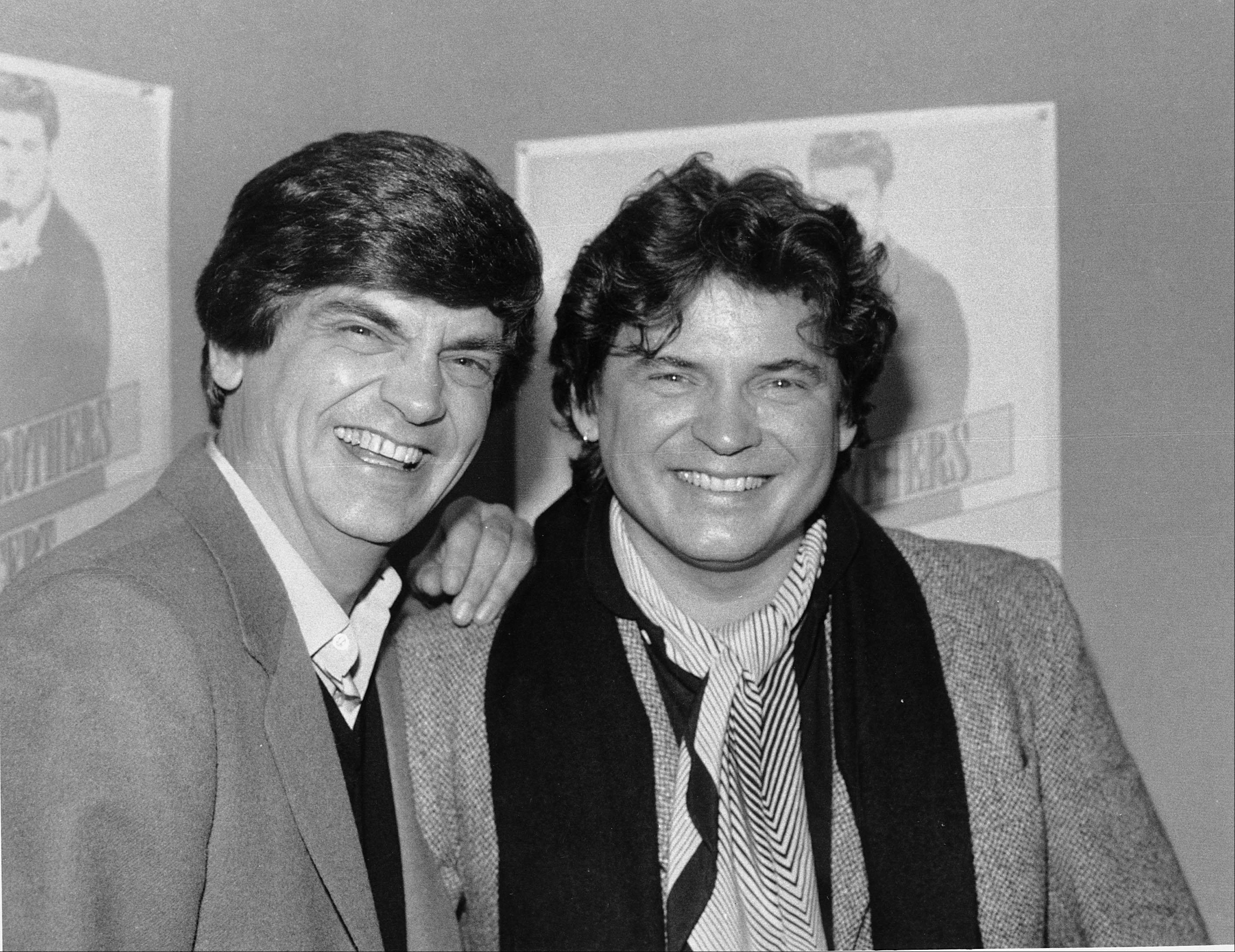 Phil, left, and Don Everly, of the Everly Brothers, joke around for photographers in New York City.