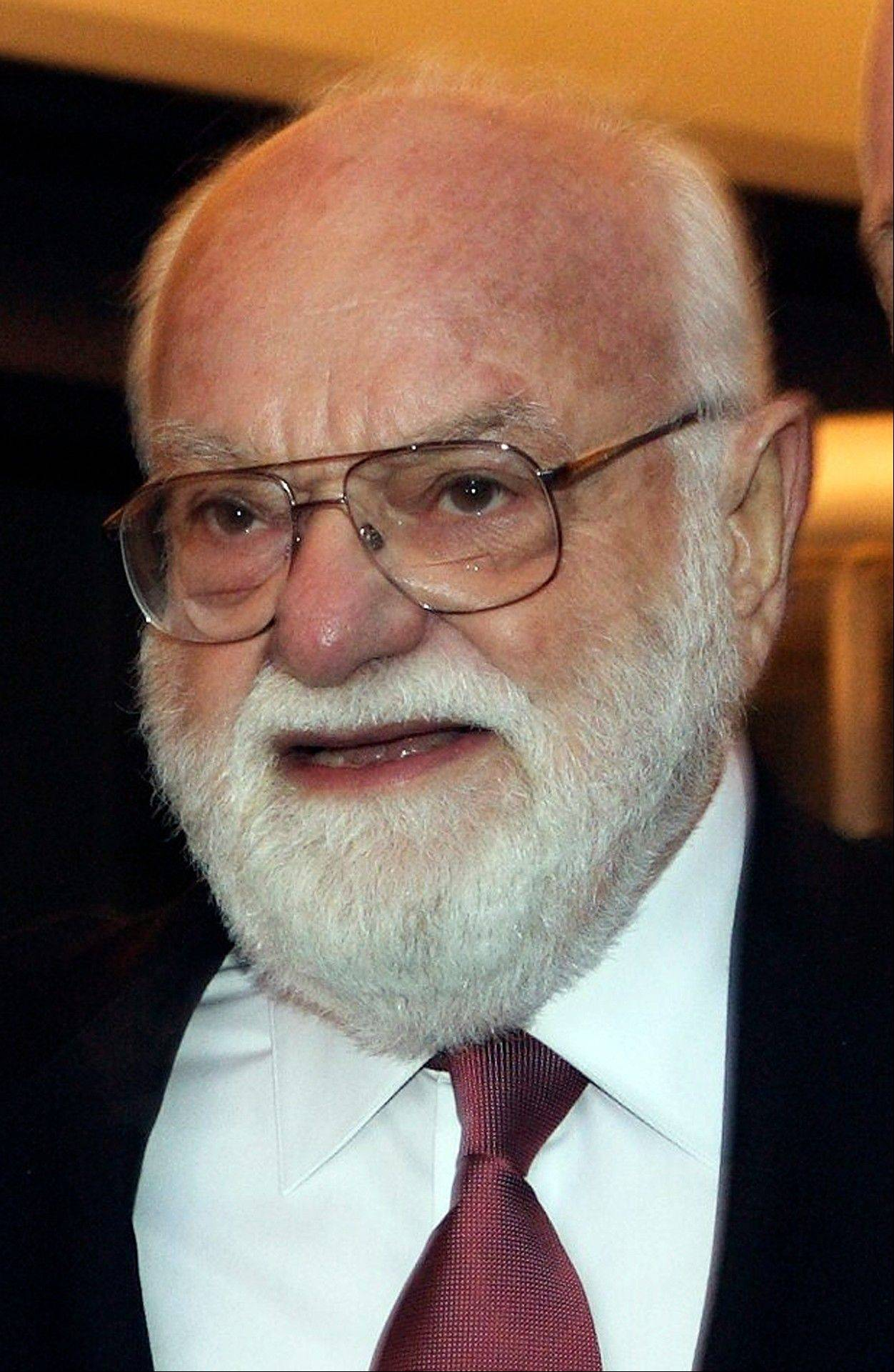 "Lord of the Rings producer Saul Zaentz arrives for the premiere of the the theater production in Toronto. Zaentz, a music producer whose second career as a filmmaker brought him best-picture Academy Awards for ""One Flew Over the Cuckoo's Nest,"" ""Amadeus"" and ""The English Patient,"" has died."