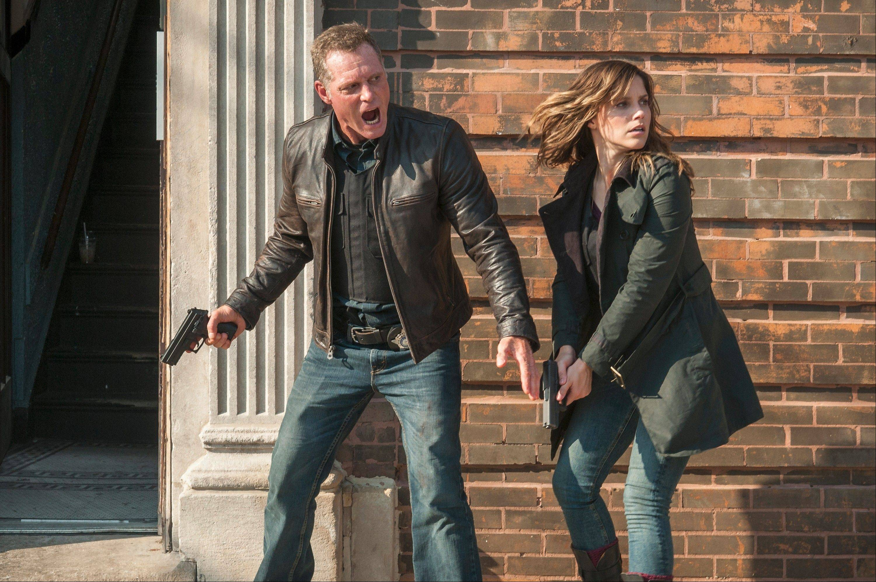 "Jason Beghe and Sophia Bush star as a members of a special Windy City police unit in NBC's new ""Chicago P.D."""