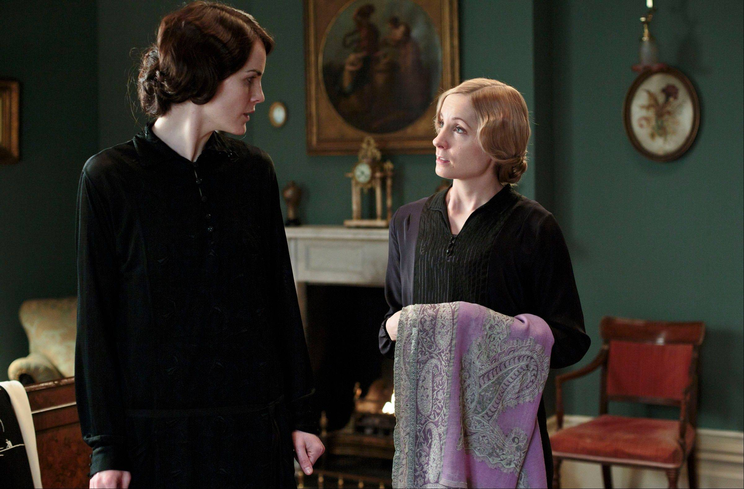 "Lady Mary (Michelle Dockery) and Anna Bates (Joanne Froggatt) return for the much-awaited fourth season of Masterpiece's ""Downton Abbey."" This season, ""Downton Abbey"" remains a series about elegance, tradition and gentility, and the pressures of preserving them."