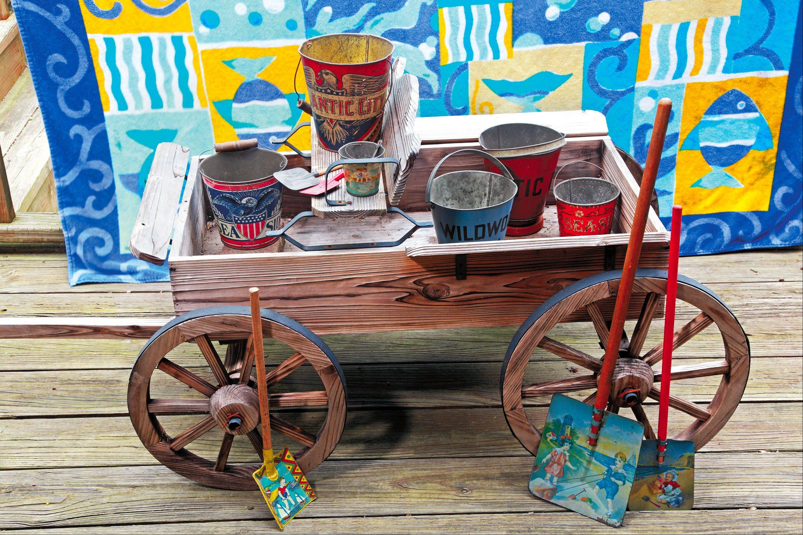 Beach pails and shovels are a hot new collectible.