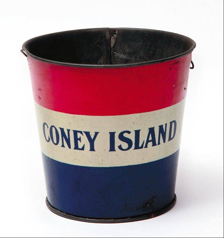This Coney Island pail was purchased for $150 about 20 years ago.