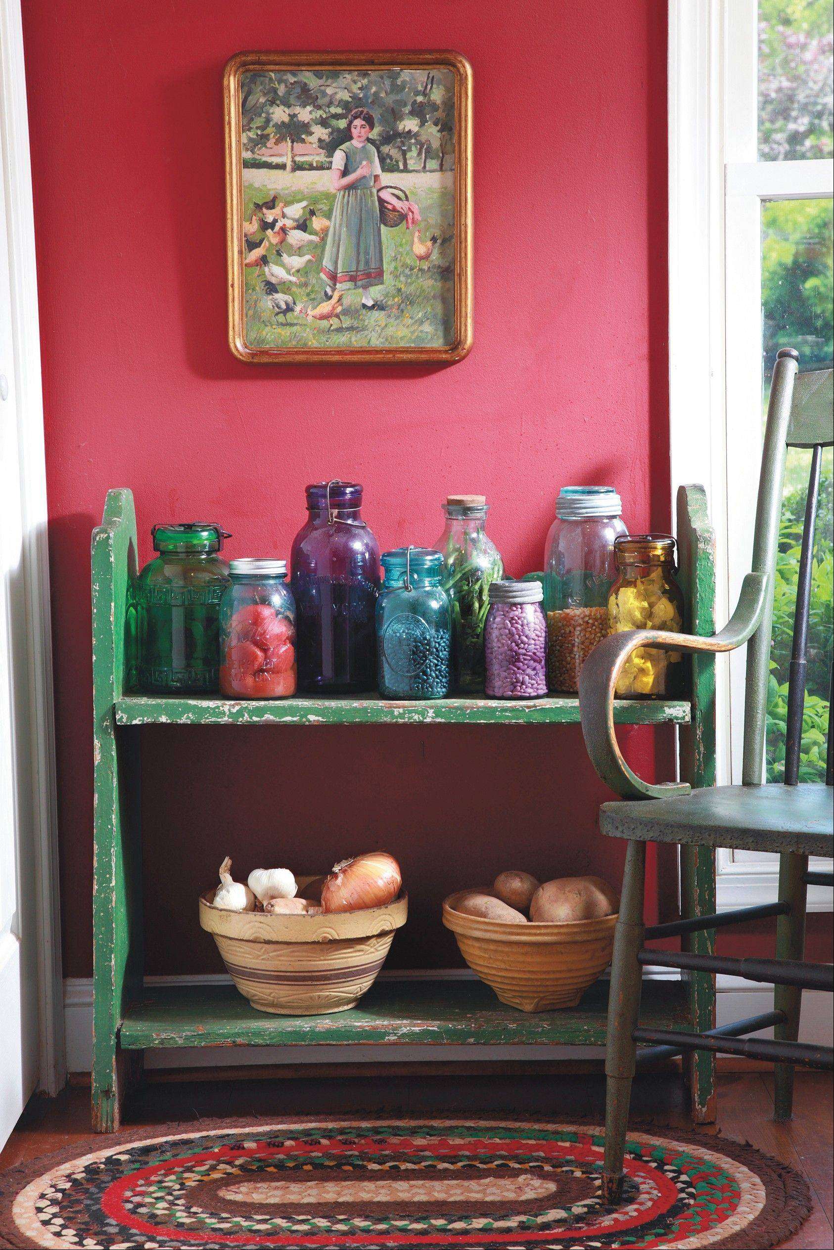 Old canning jars are plentiful and easy to find, though some colors of glass are rare and difficult to find.