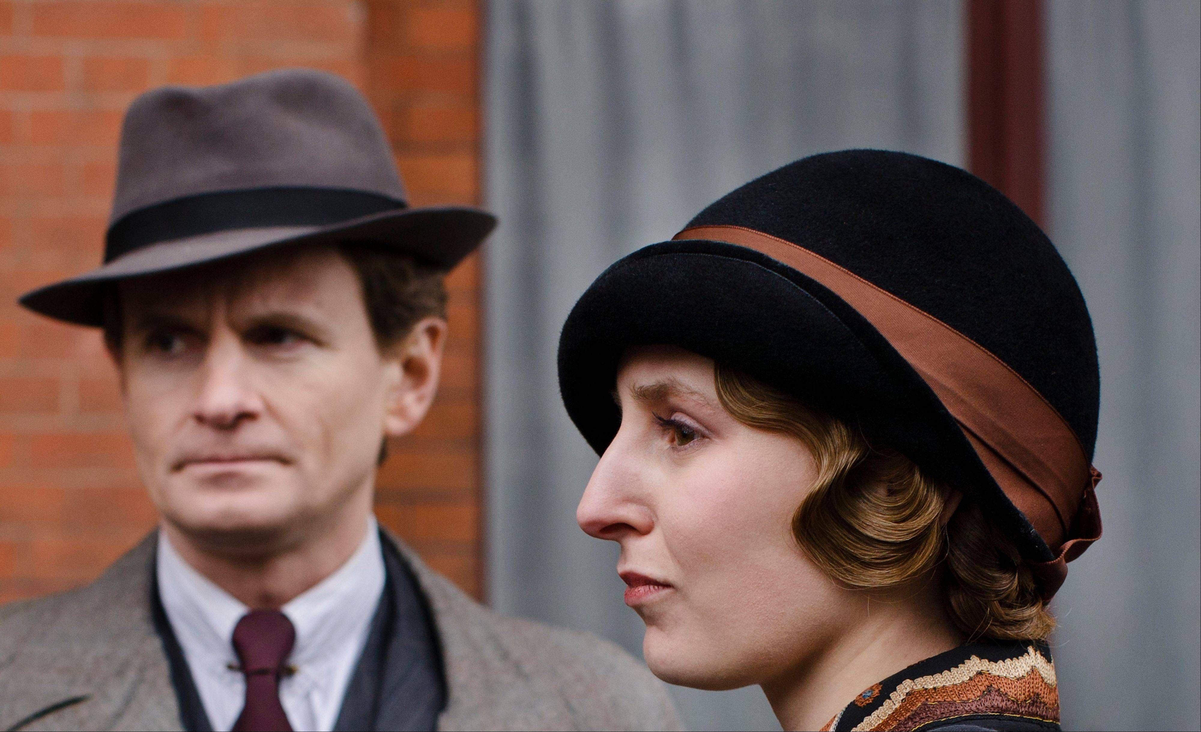 "Michael Gregson (Charles Edwards) and Lady Edith (Laura Carmichael) return for season four of ""Downton Abbey."""