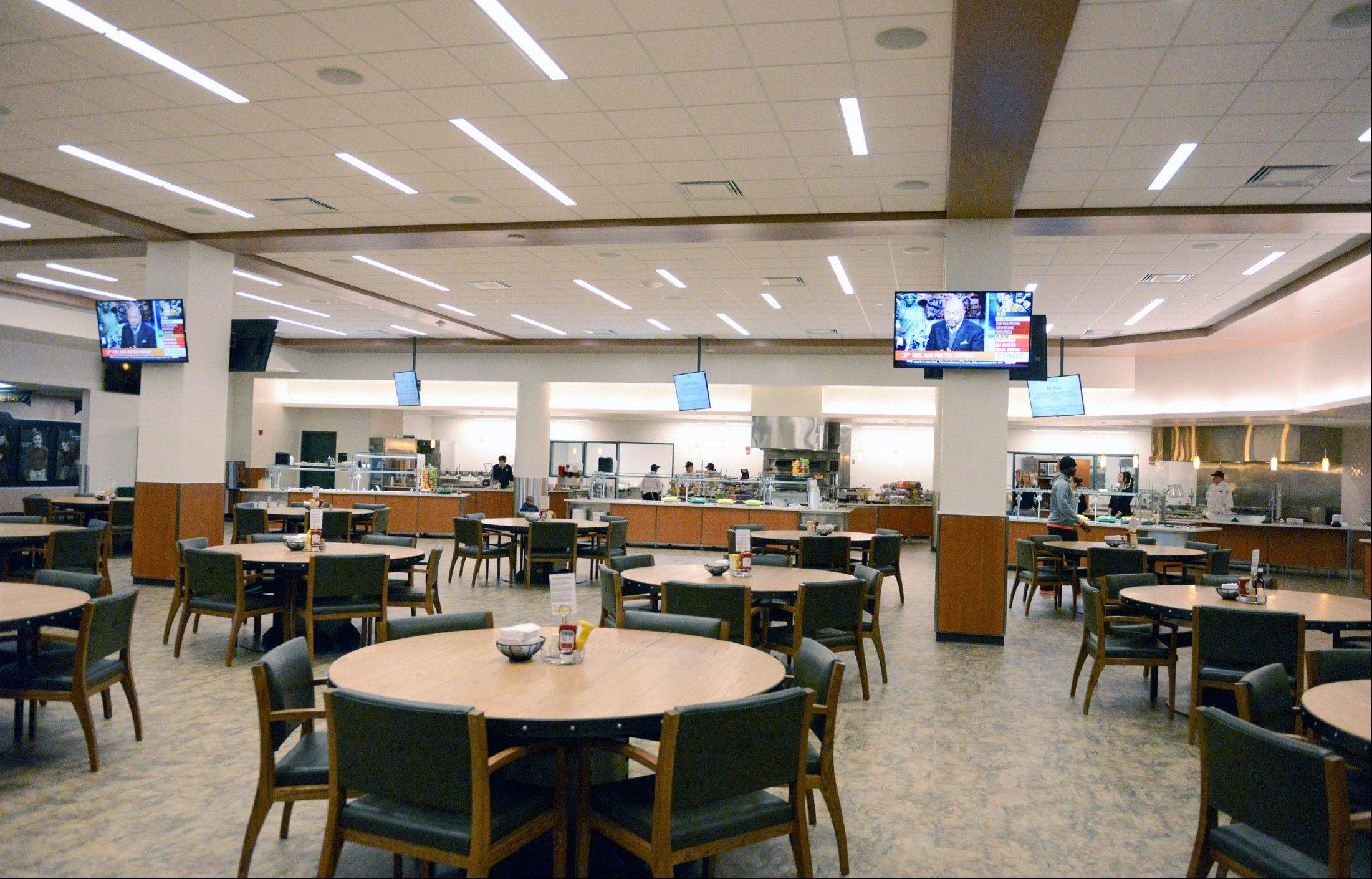 As part of the atrium expansion at Lambeau Field, the player facilities had to be moved and were upgraded in the process, including the team's cafeteria, weight room, resource area and lounge.