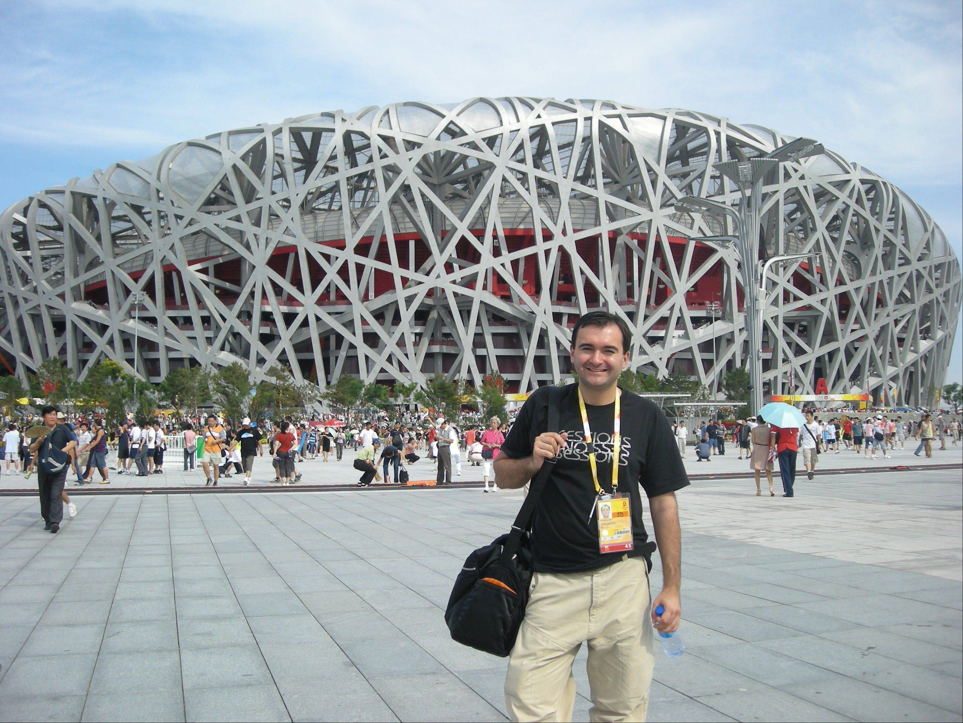 Lake County Dr. Timur Kouliev on duty at the Beijing Olympics in 2008.
