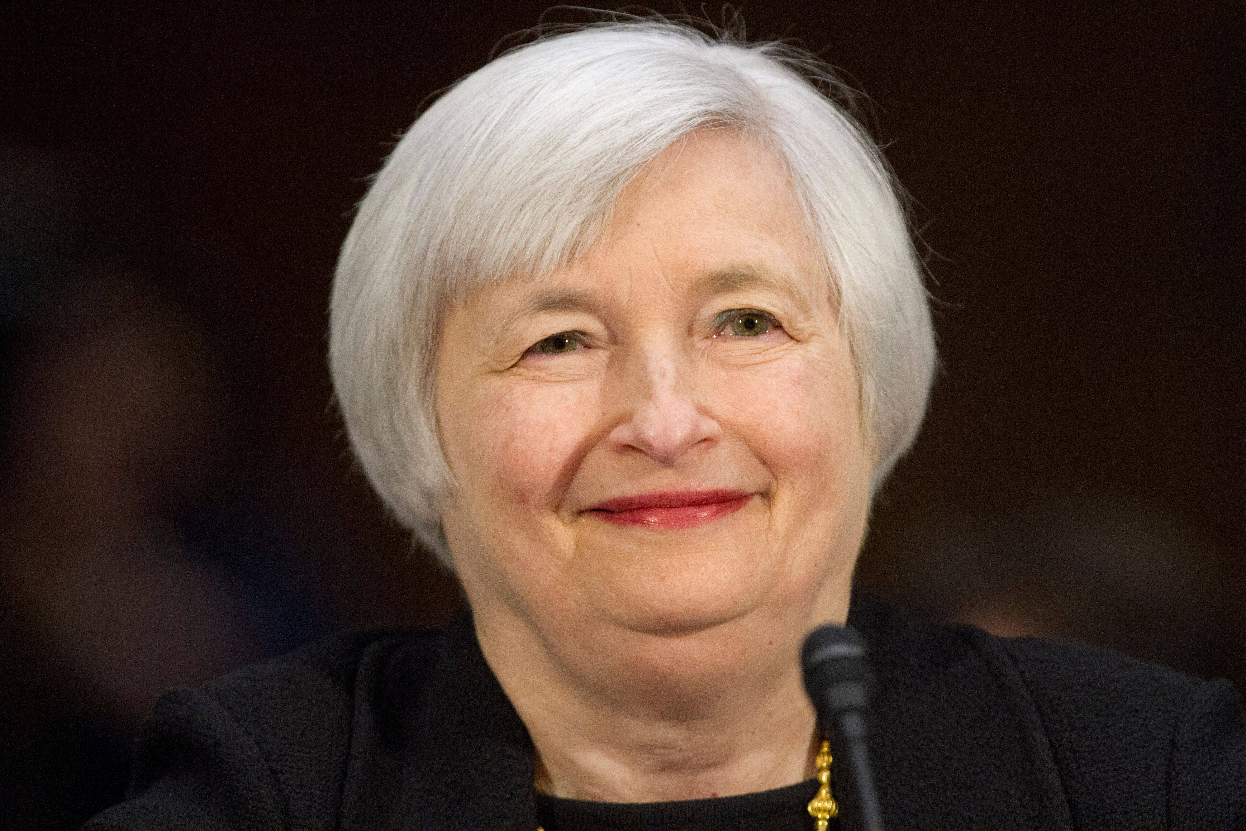 The Senate on Monday approved Janet Yellen, as Federal Reserve Board chairman, the first woman to serve in that role. She is a backer of the central bank's recent efforts to spur the economy with low interest rates and massive bond purchases.