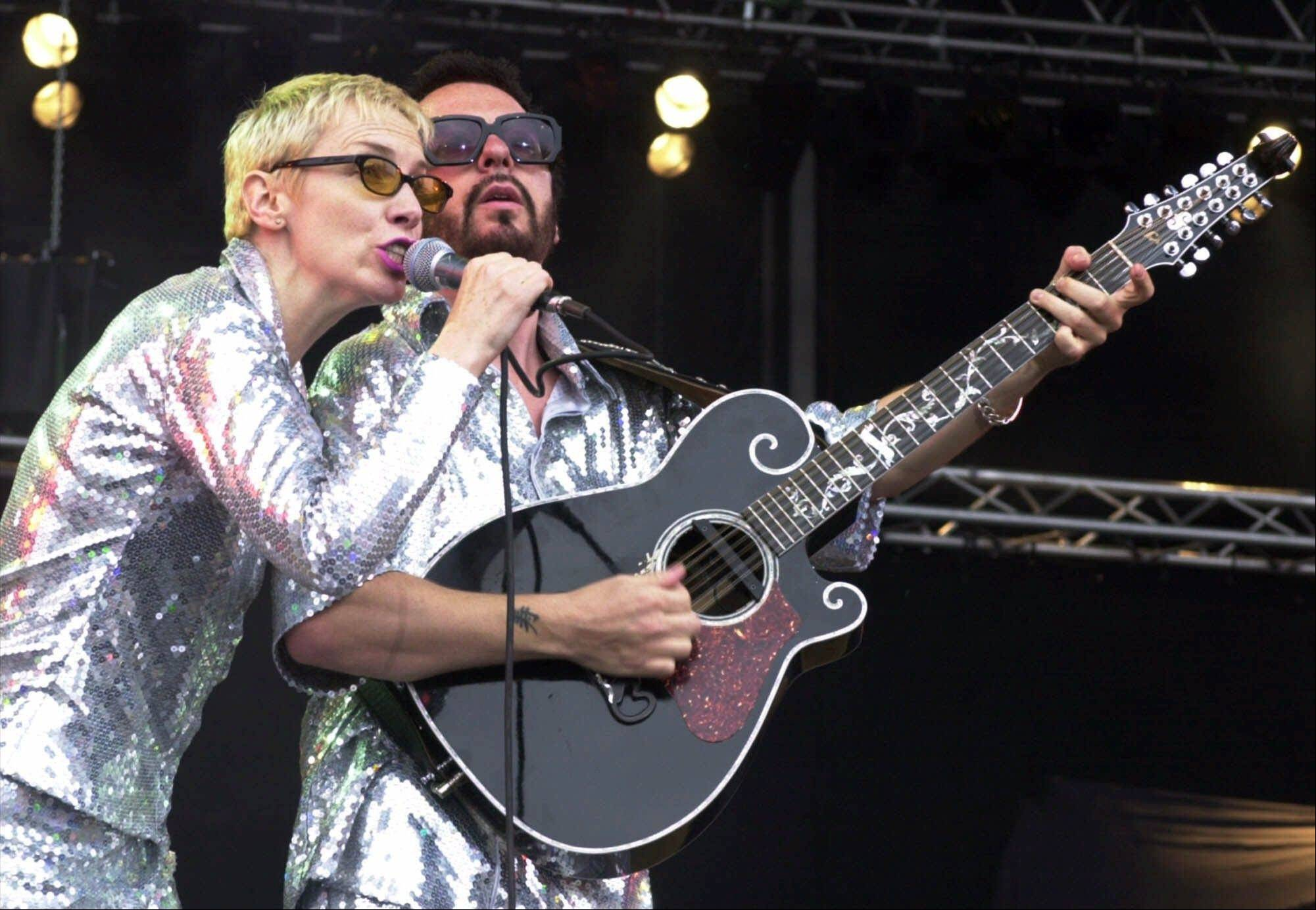 "The Eurythmics — Annie Lennox and Dave Stewart — performed onstage in 2000 at the Rock at the Ring music festival in Nuerburg, Germany. The band is reuniting to pay tribute to the Beatles for ""The Night That Changed America: A Grammy Salute To The Beatles."" The event will tape at the Los Angeles Convention Center on Jan. 27, a day after the Grammy Awards."