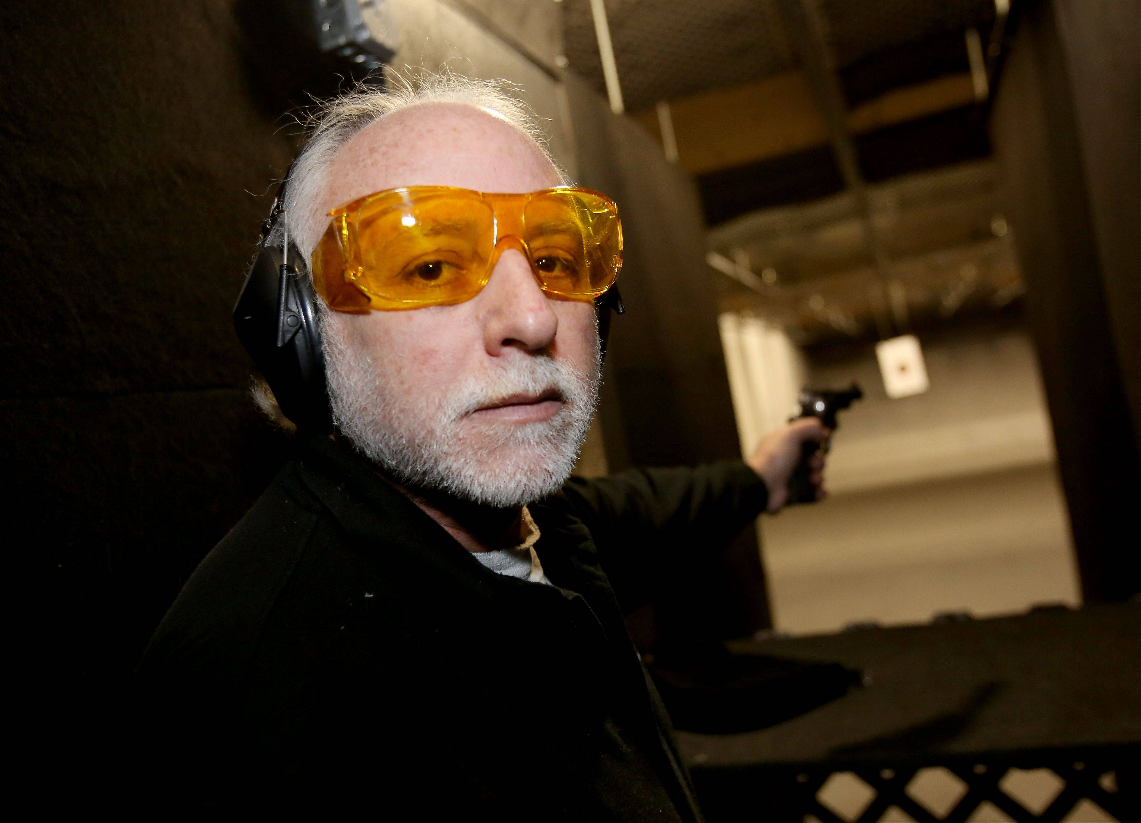 Barry Soskin at his Article II Range in Lombard. Suburban instructors are seeing a spike in demand for training sessions required to get a concealed carry license in Illinois.