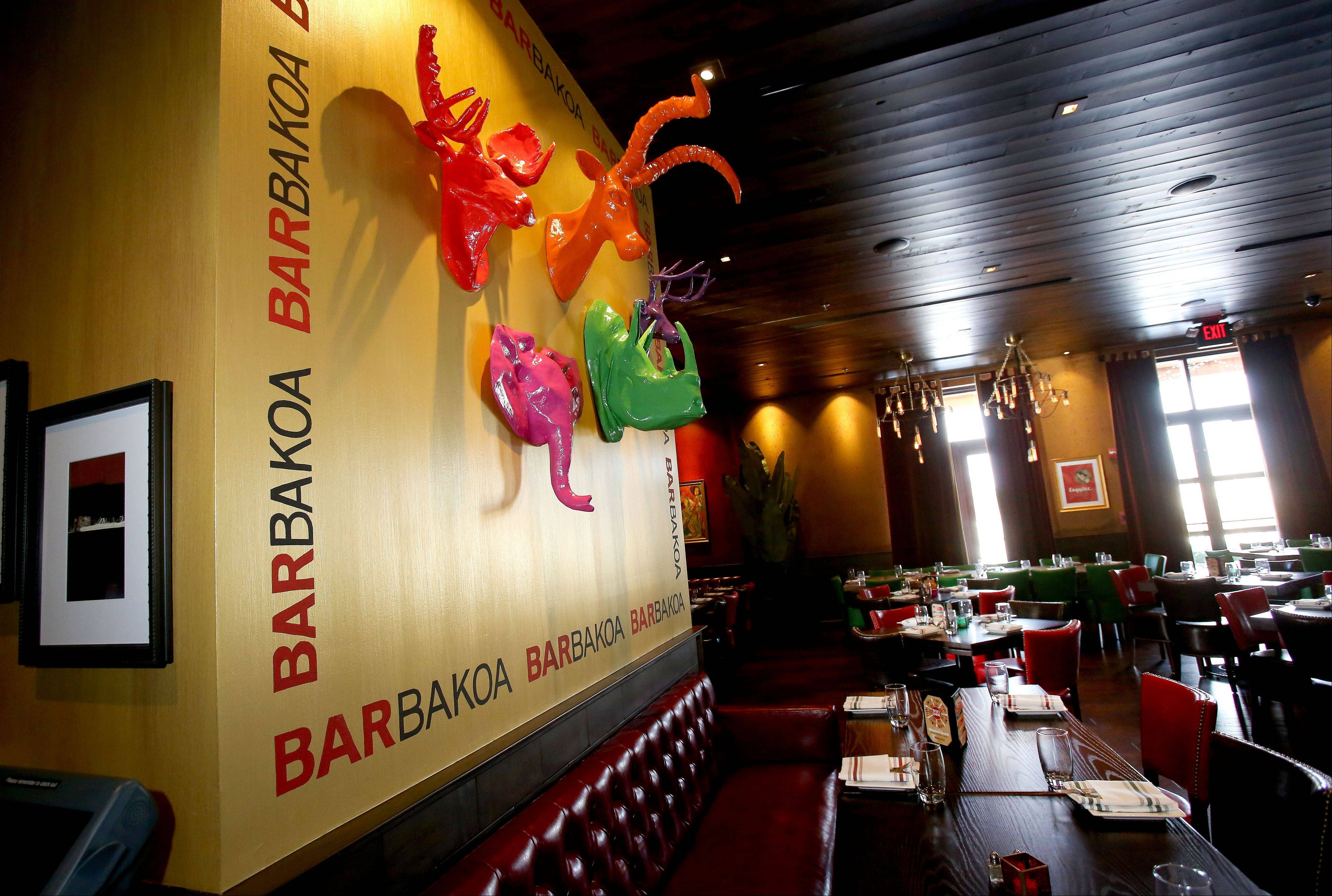 Barbakoa's funky and lively decor adds to the restaurant's appeal.