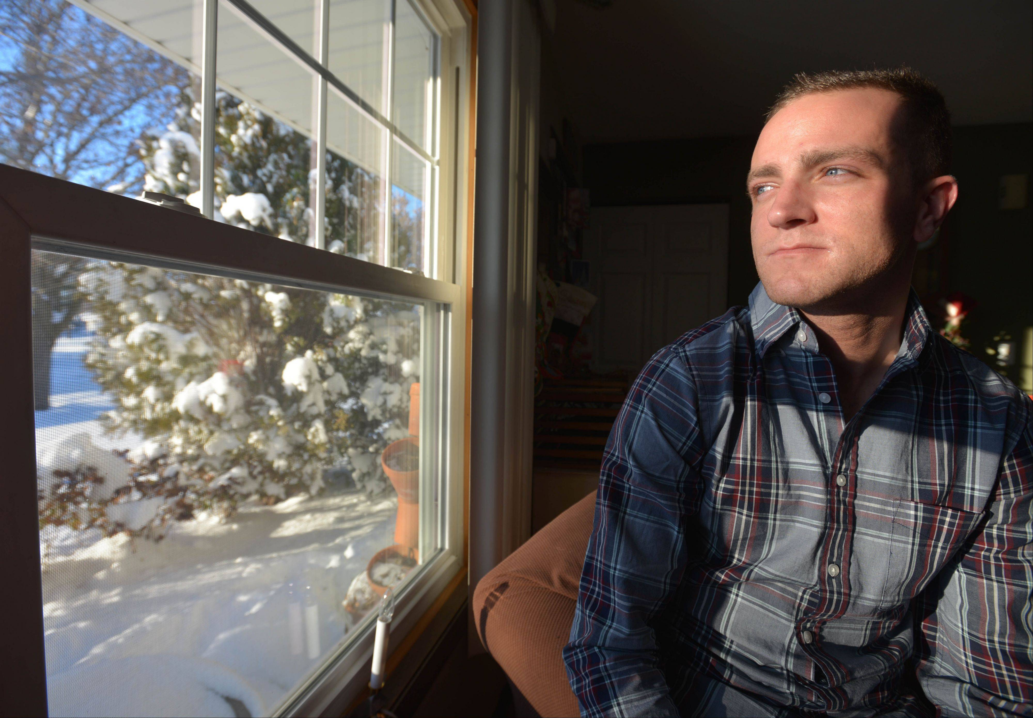 "Nick Gore, a recovering heroin addict, has been sharing his story at schools and community forums. ""The goal is to stop kids from trying it once,"" the 29-year-old Bartlett resident said."