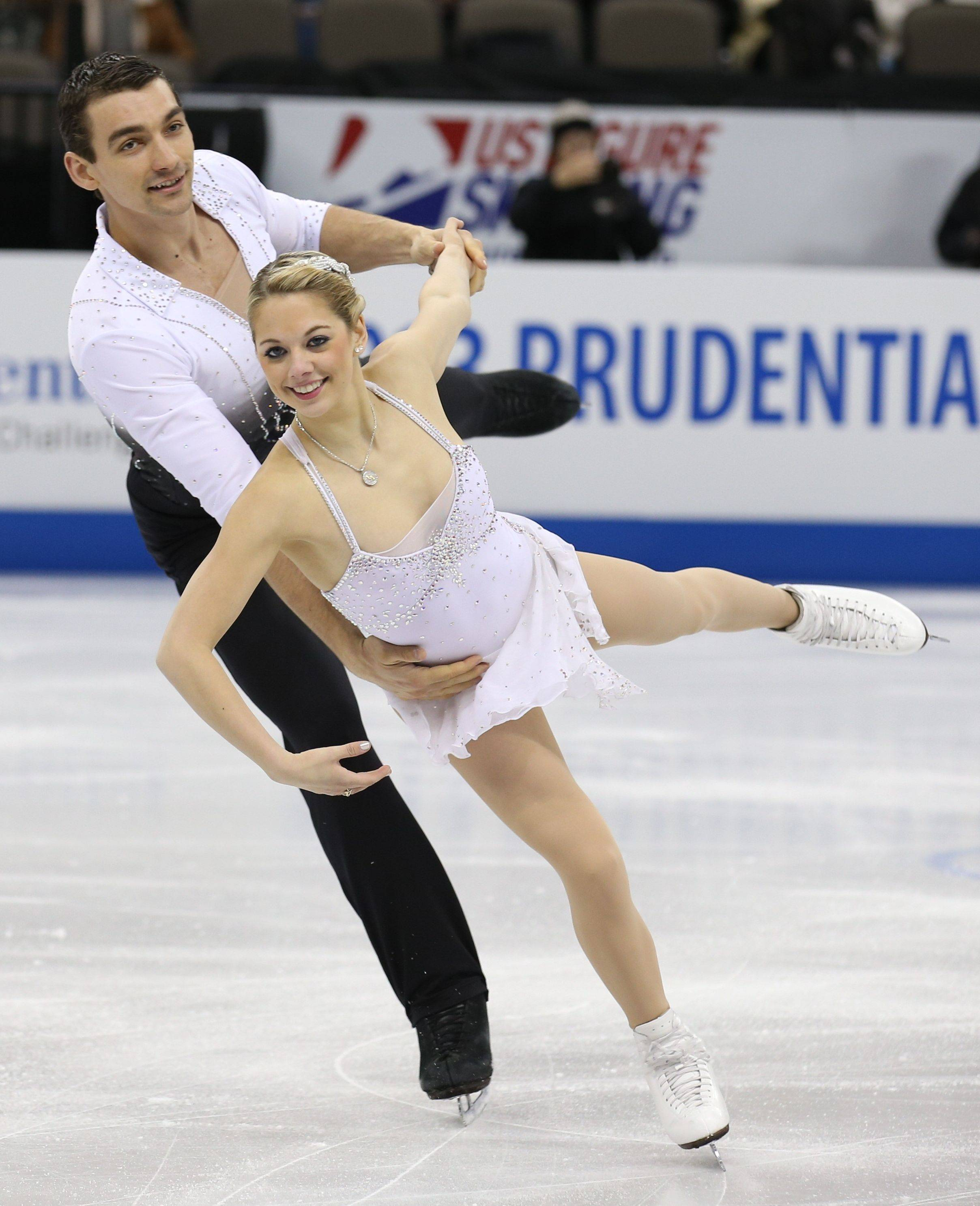 Addison native Alexa Scimeca and her pairs figure skating partner, Chris Knierim, shown here at the 2013 Prudential U.S. Figure Skating Championships, hope to earn a spot on the U.S. Olympic team this weekend.
